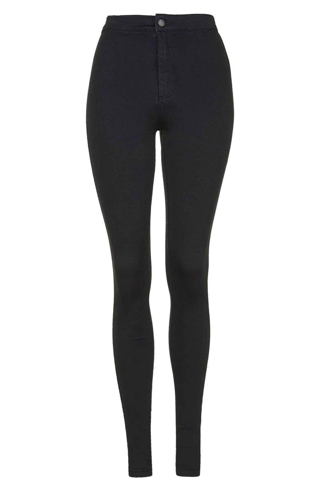 TOPSHOP, Joni High Waist Ankle Skinny Jeans, Alternate thumbnail 2, color, 001