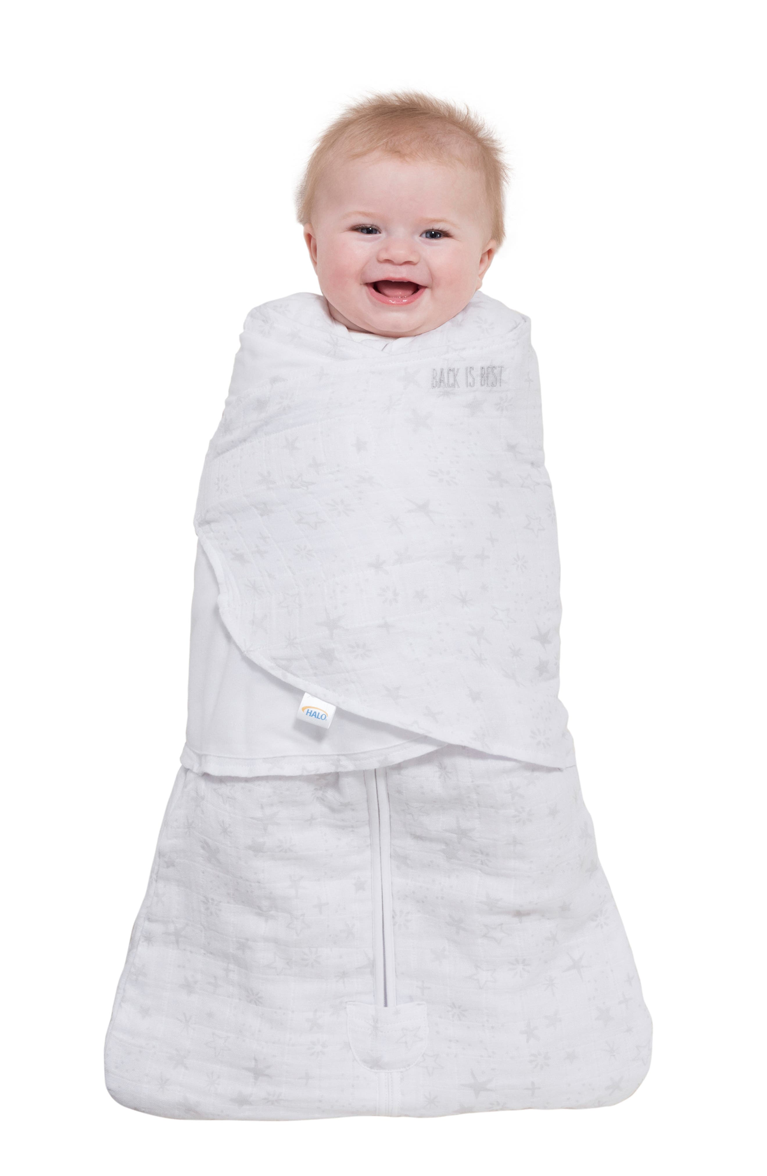 HALO<SUP>®</SUP>, Platinum Series SleepSack<sup>™</sup> Quilted Swaddle, Alternate thumbnail 7, color, GREY CONSTELLATION