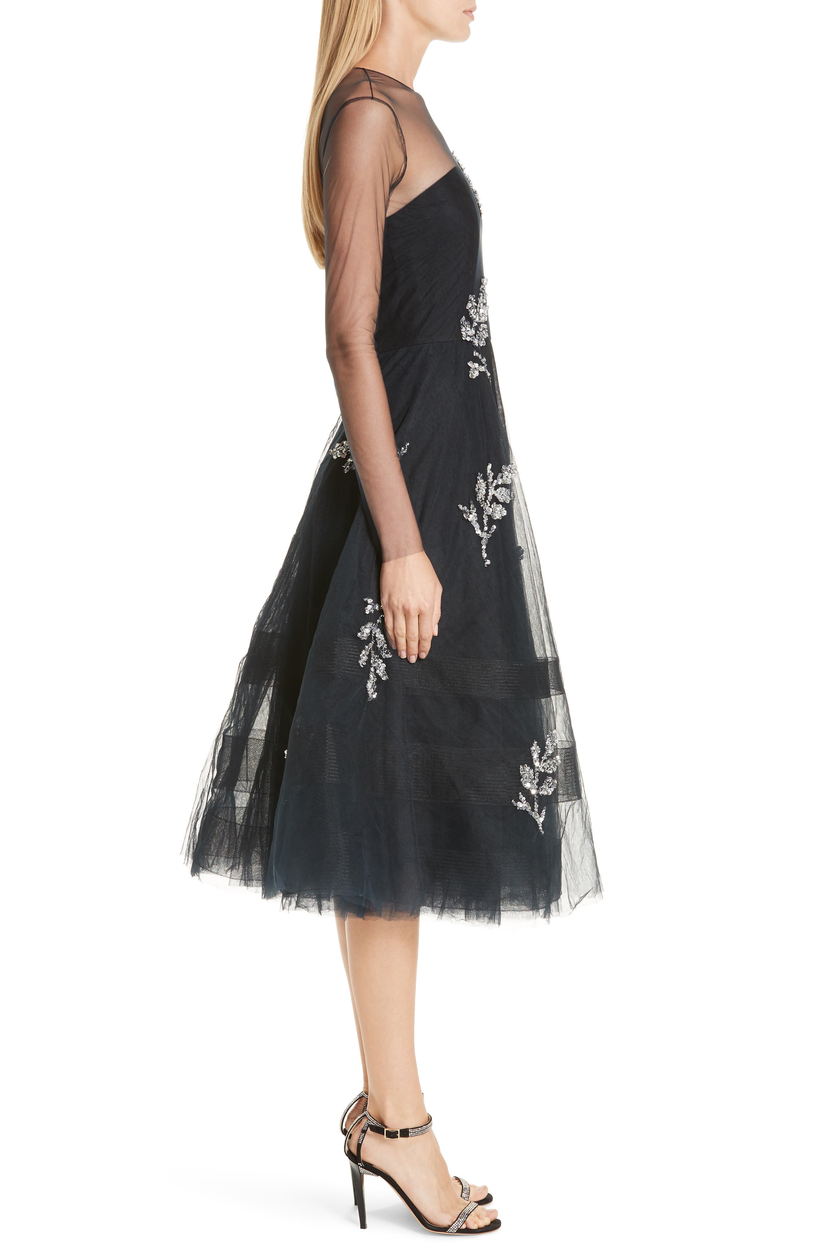 SACHIN & BABI, Drs Candille Fit & Flare Dress, Alternate thumbnail 4, color, MIDNIGHT