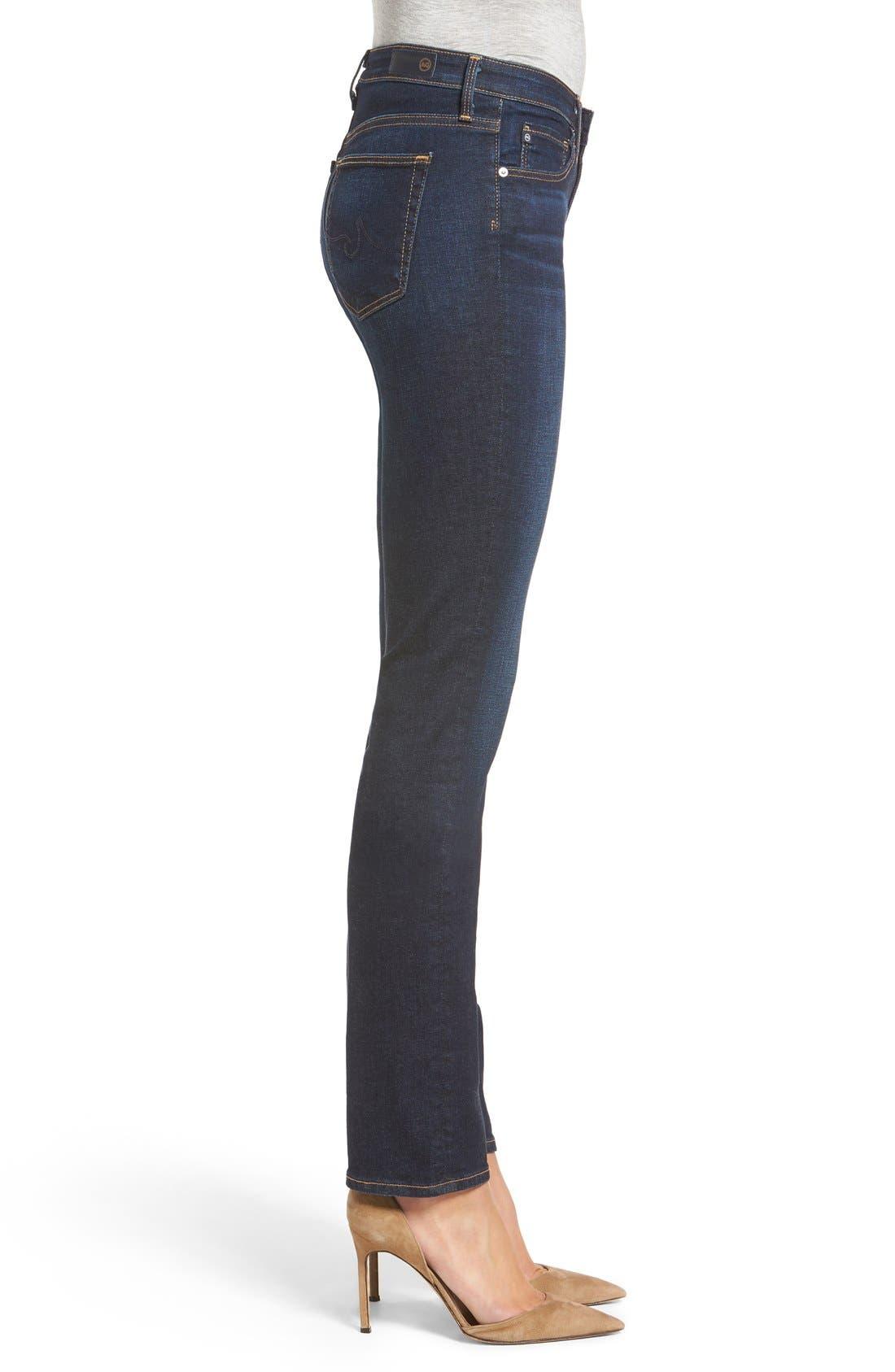 AG, Harper Slim Straight Leg Jeans, Alternate thumbnail 6, color, SMITTEN