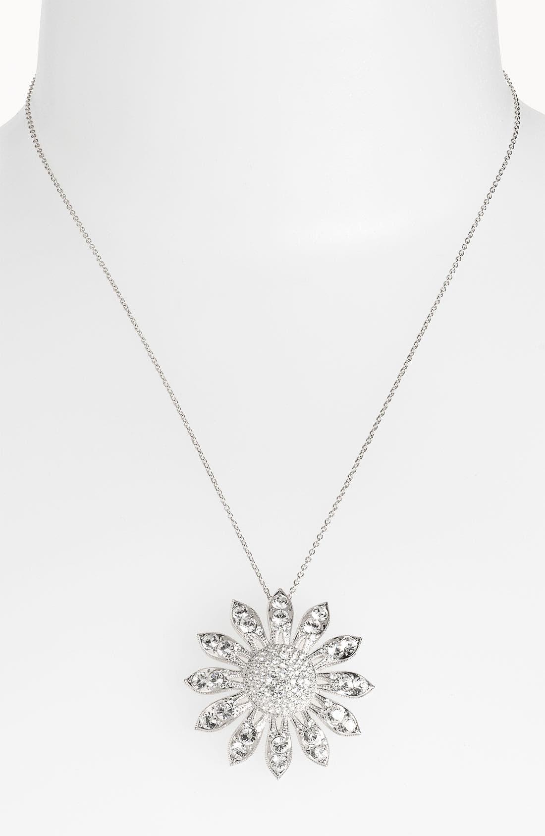 NADRI, 'Eden' Large Daisy Pendant Necklace, Main thumbnail 1, color, 040