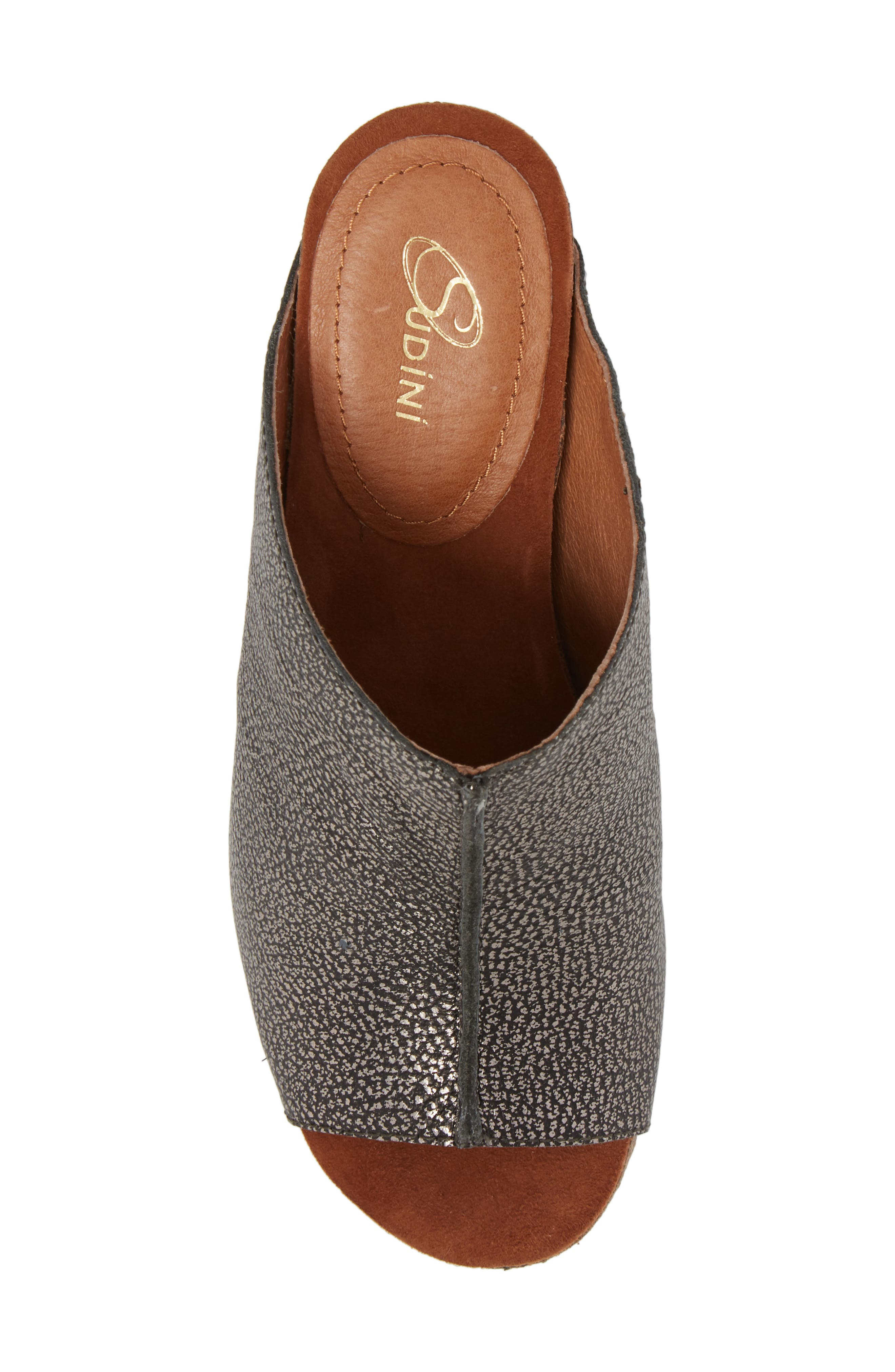 SUDINI, 'Bailey' Suede Wedge, Alternate thumbnail 5, color, PEWTER LEATHER