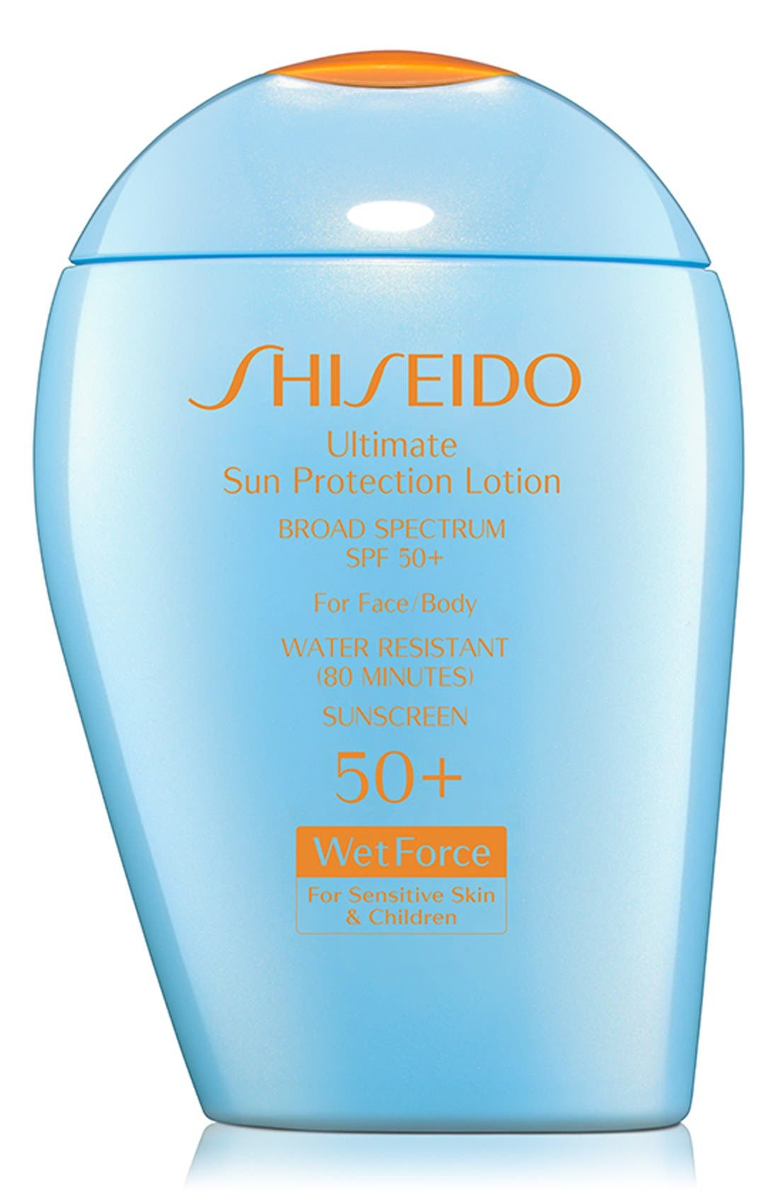 SHISEIDO Ultimate Sun Protection Lotion for Sensitive Skin & Children Broad Spectrum SPF 50+, Main, color, NO COLOR