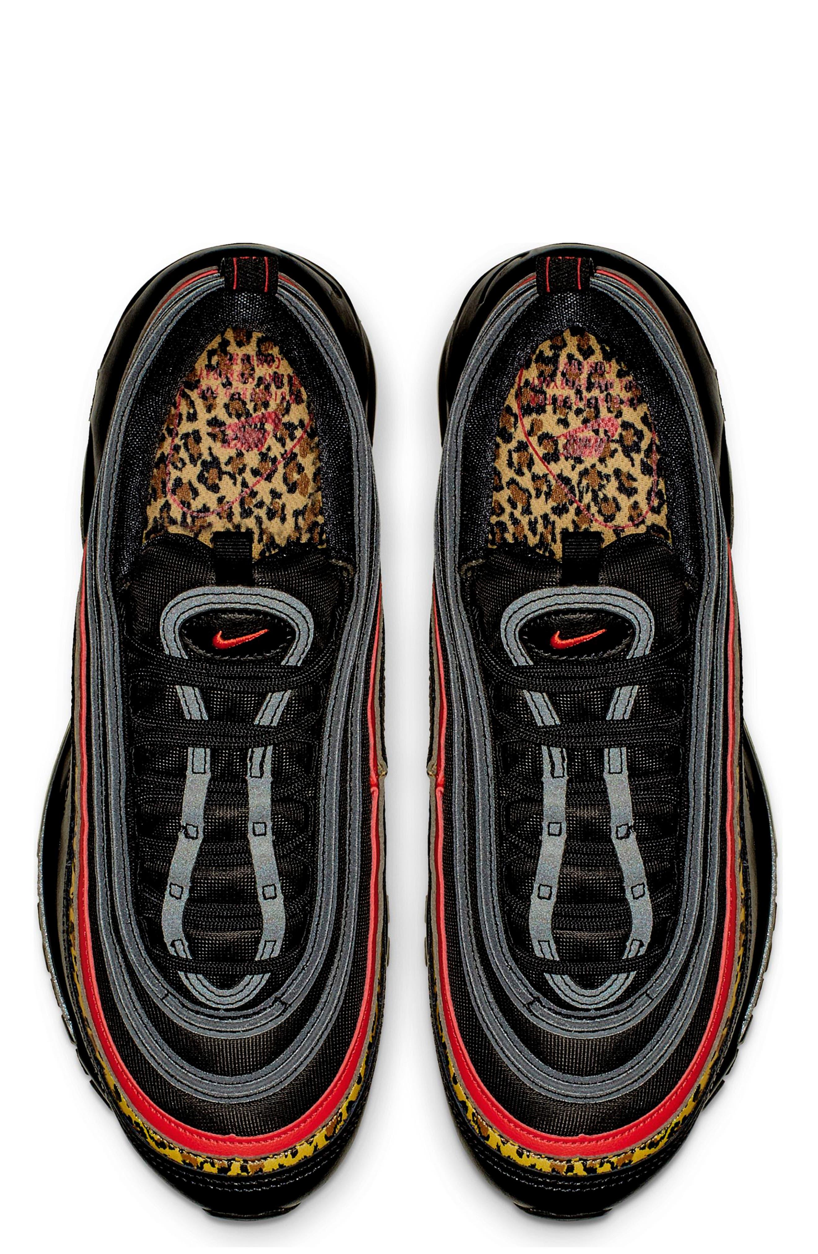 NIKE, Air Max 97 Sneaker, Alternate thumbnail 4, color, 001