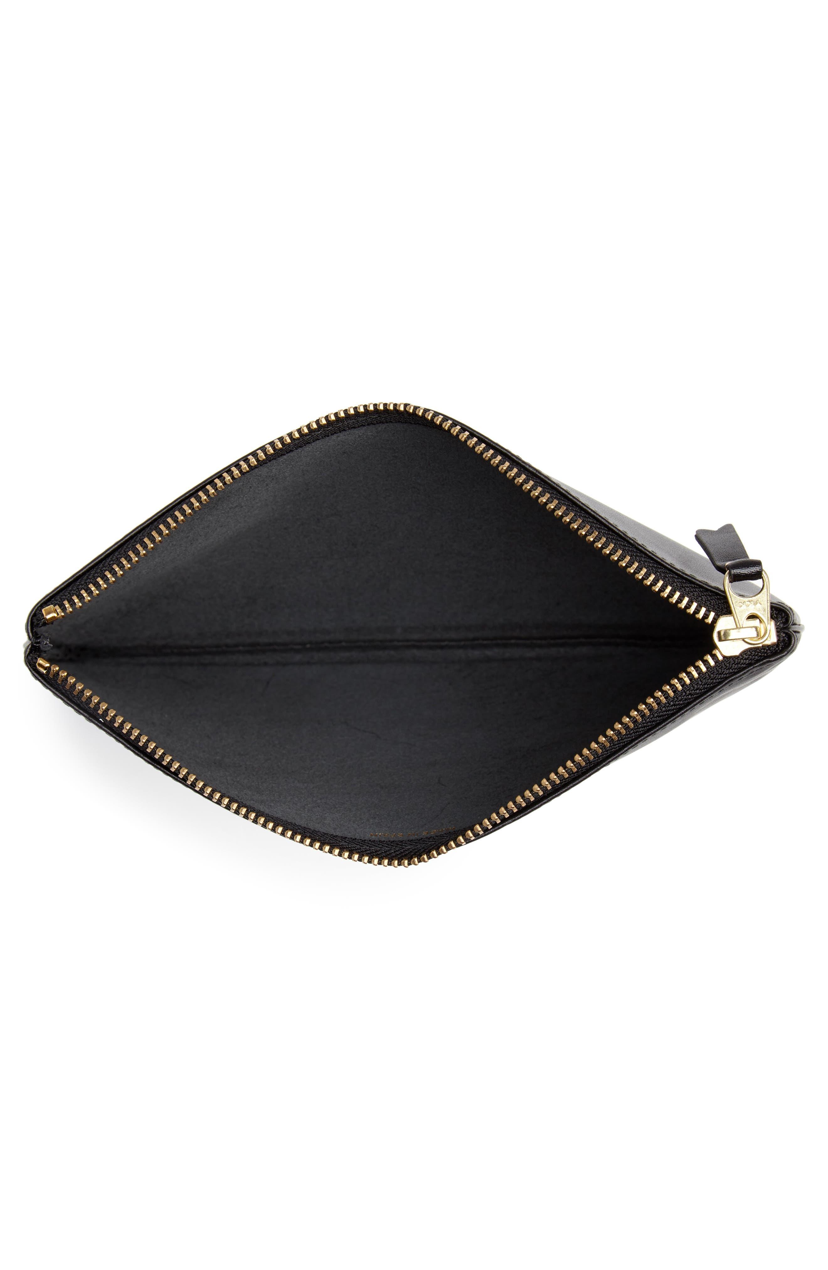 COMME DES GARÇONS, Classic Leather Line Pouch, Alternate thumbnail 2, color, 001