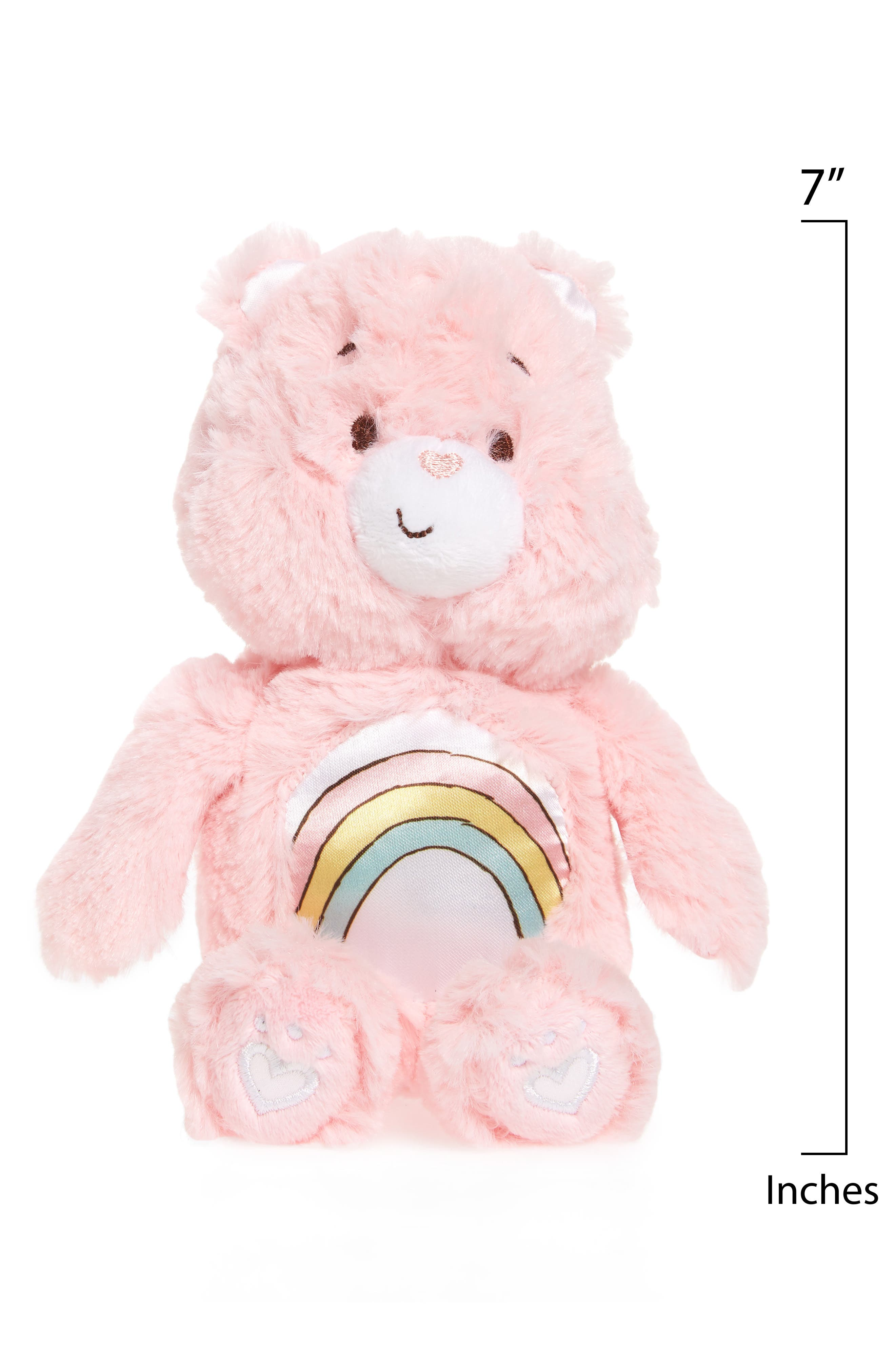 KIDS PREFERRED, Care Bears Cheer Bear Rattle Plush Toy, Alternate thumbnail 2, color, 650