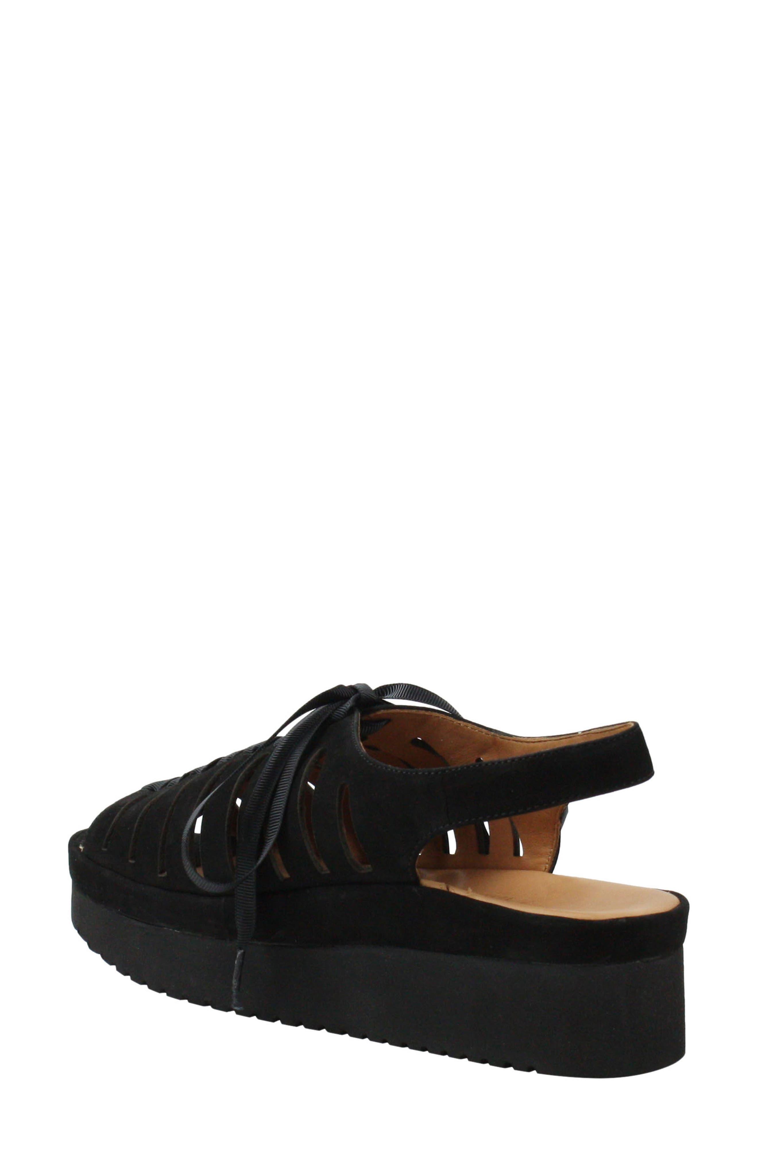 L'AMOUR DES PIEDS, Amarli Sandal, Alternate thumbnail 2, color, BLACK NUBUCK LEATHER
