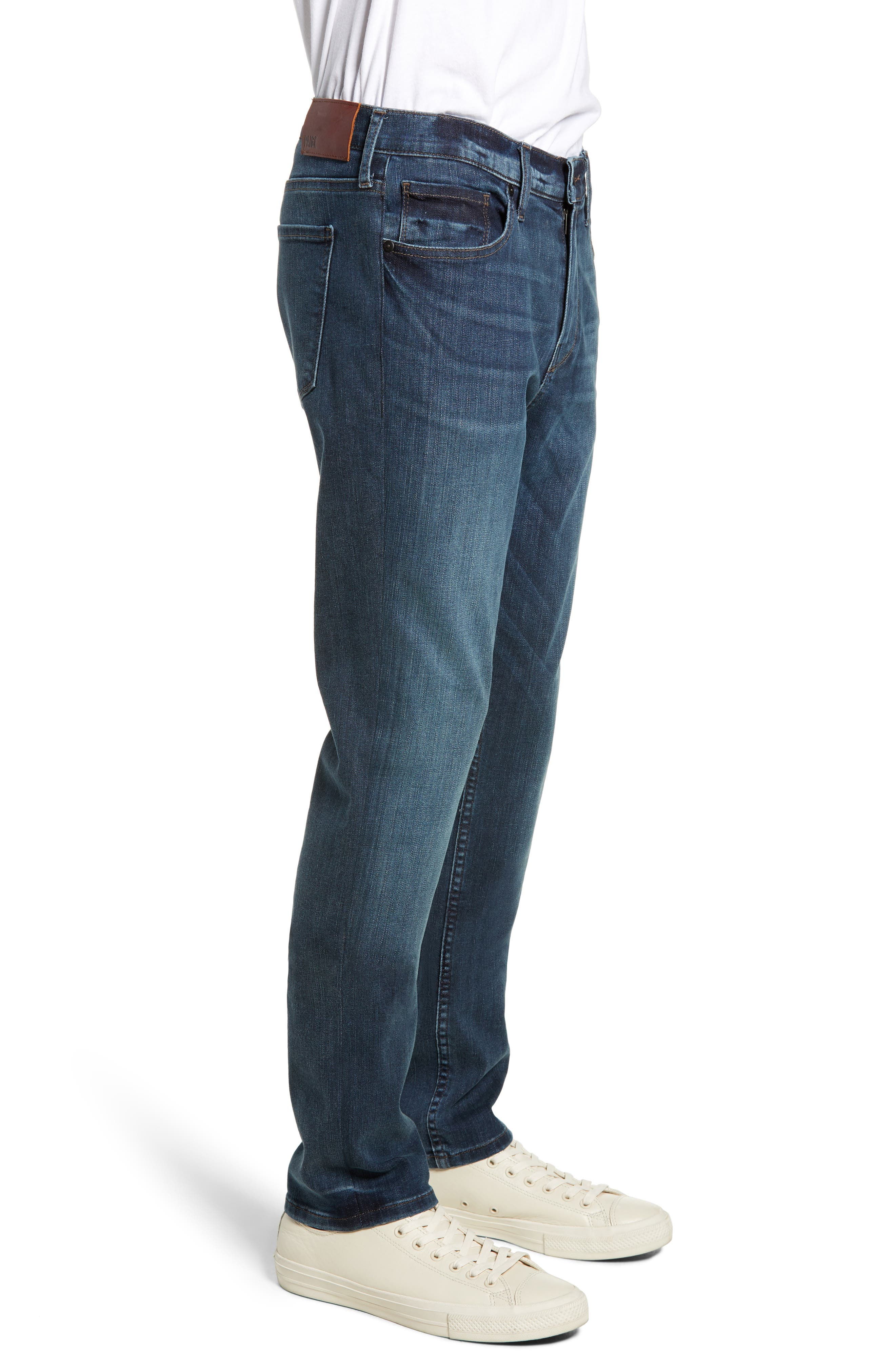 PAIGE, Transcend Vintage Federal Slim Straight Leg Jeans, Alternate thumbnail 4, color, ROARKE