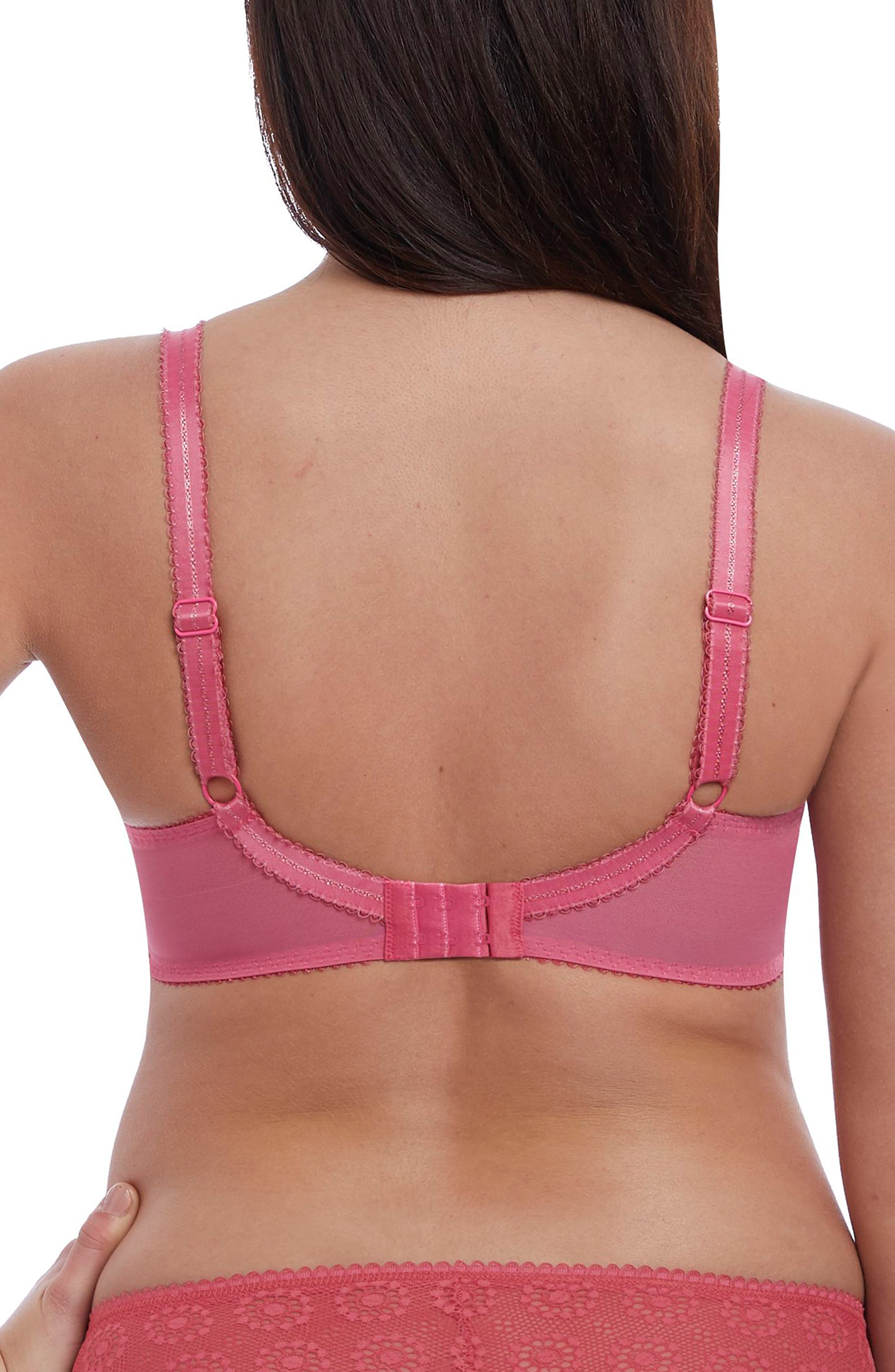 FREYA, Love Note Underwire Bra, Alternate thumbnail 2, color, ROSE