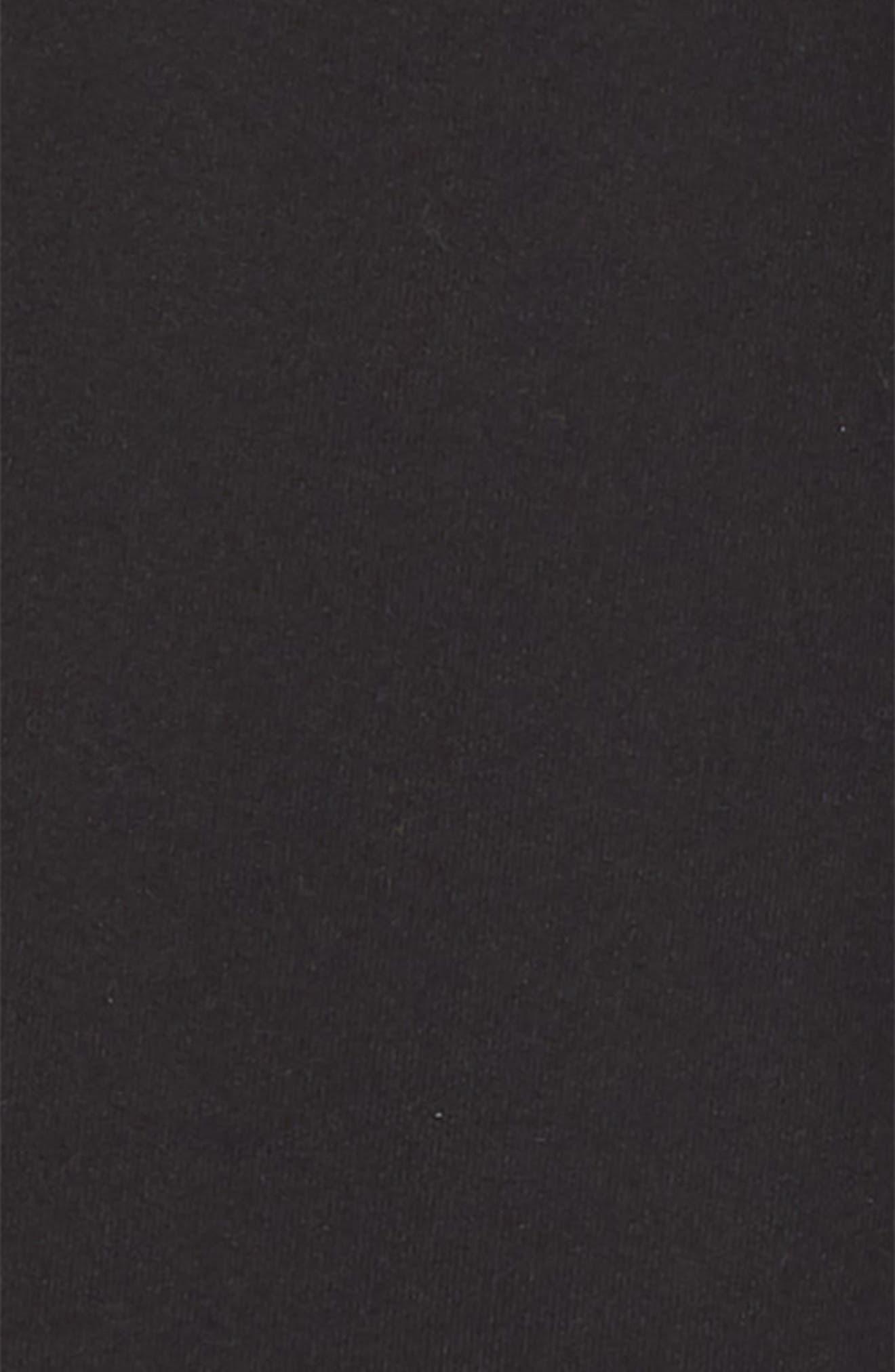 ZELLA GIRL, Side Twist Crop Leggings, Alternate thumbnail 2, color, BLACK
