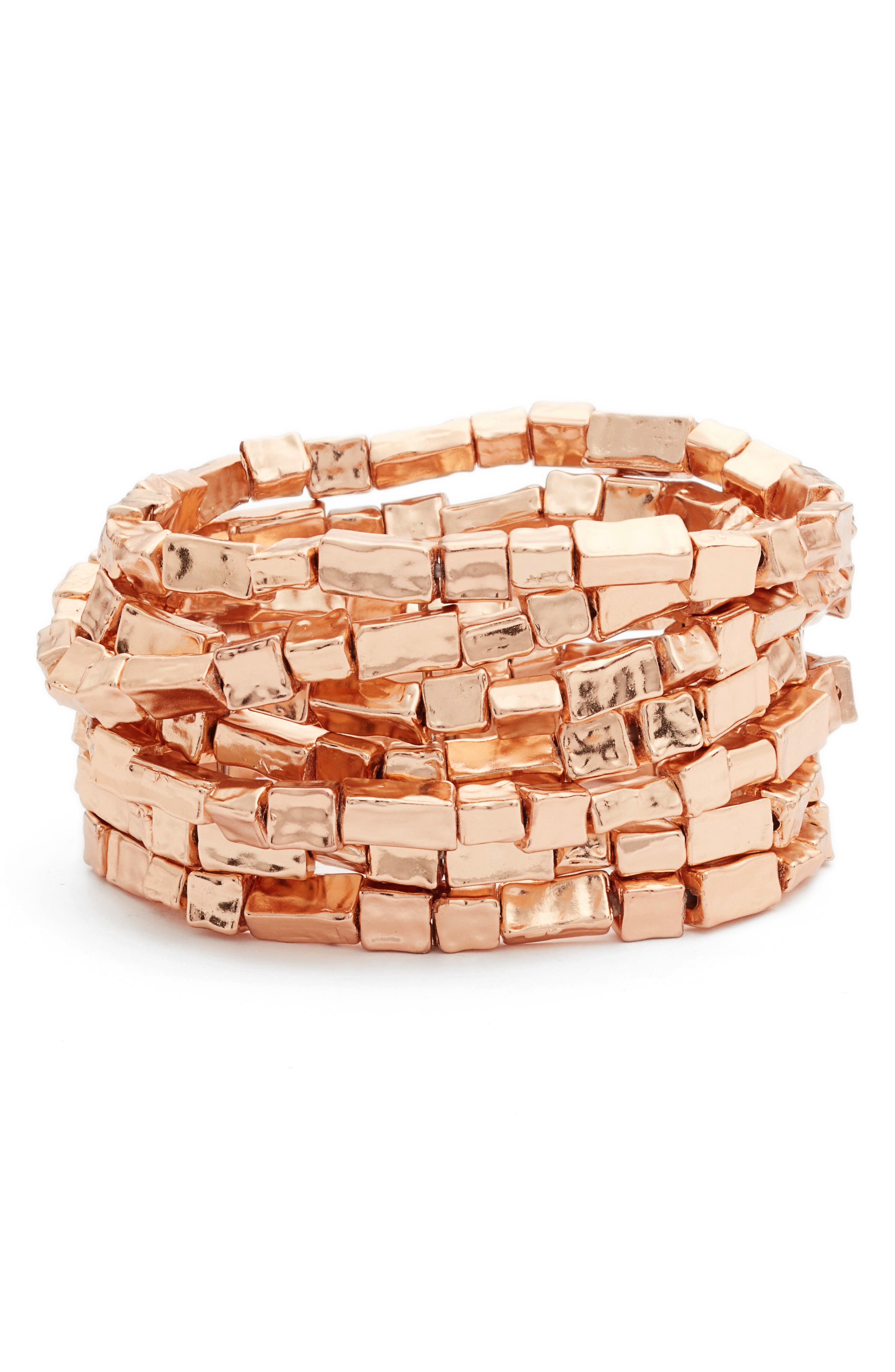 KARINE SULTAN, Bracelets, Main thumbnail 1, color, ROSE GOLD