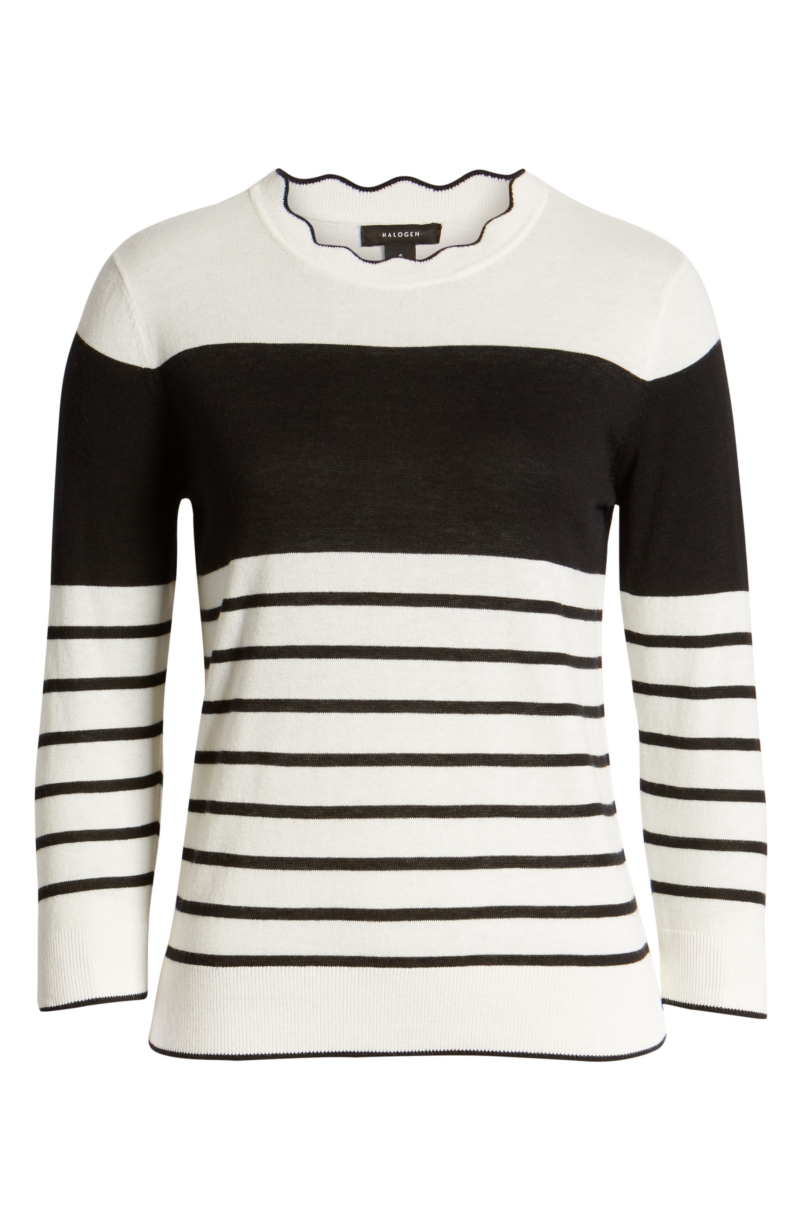 HALOGEN<SUP>®</SUP>, Scallop Neck Sweater, Alternate thumbnail 6, color, 900