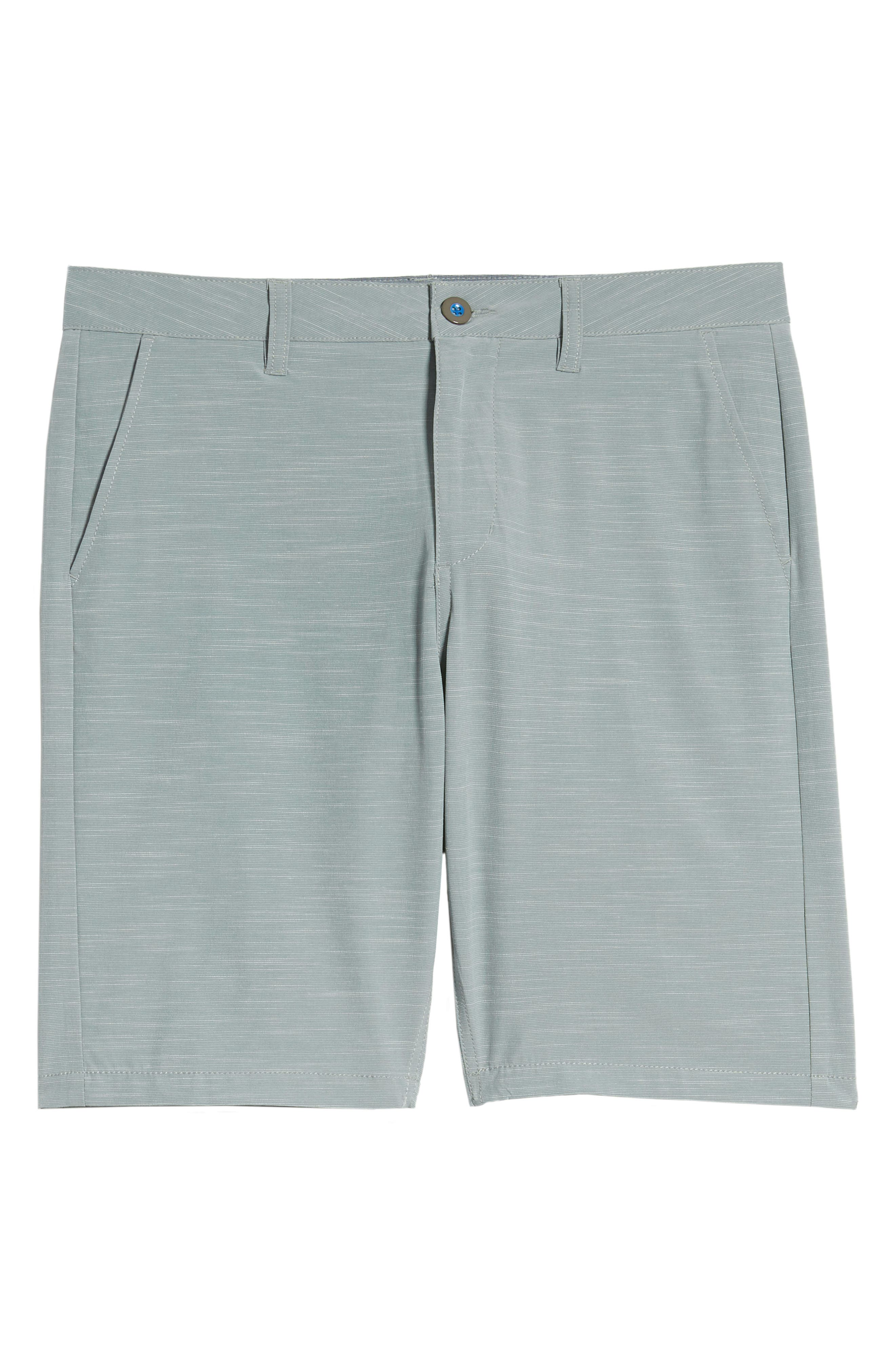 DEVEREUX, Cruiser Hybrid Shorts, Alternate thumbnail 6, color, SMOKE GREEN