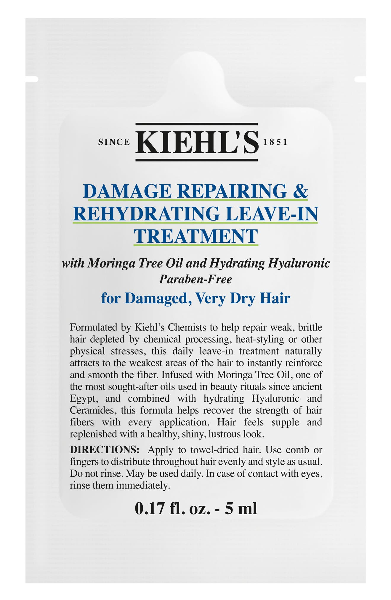 KIEHL'S SINCE 1851, Damage Repairing & Rehydrating Leave-In Treatment, Alternate thumbnail 3, color, NO COLOR