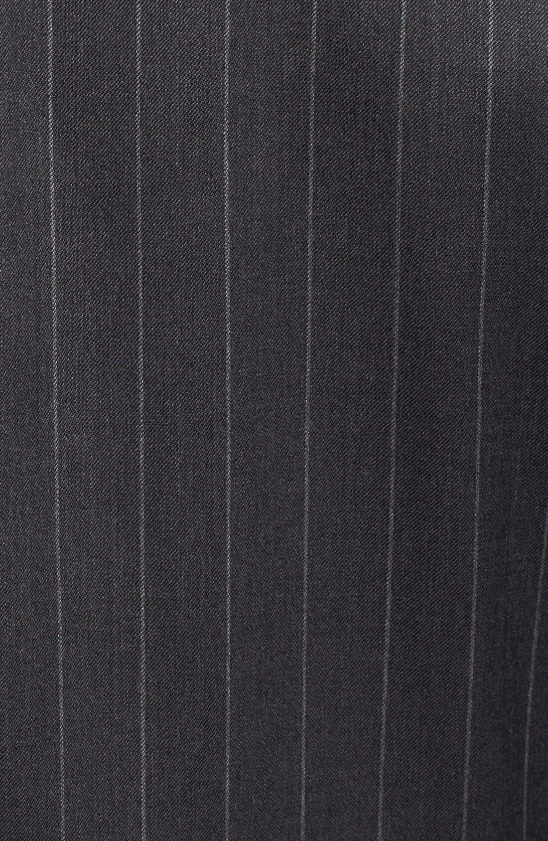 SAMUELSOHN, Classic Fit Stripe Wool Suit, Alternate thumbnail 3, color, 025