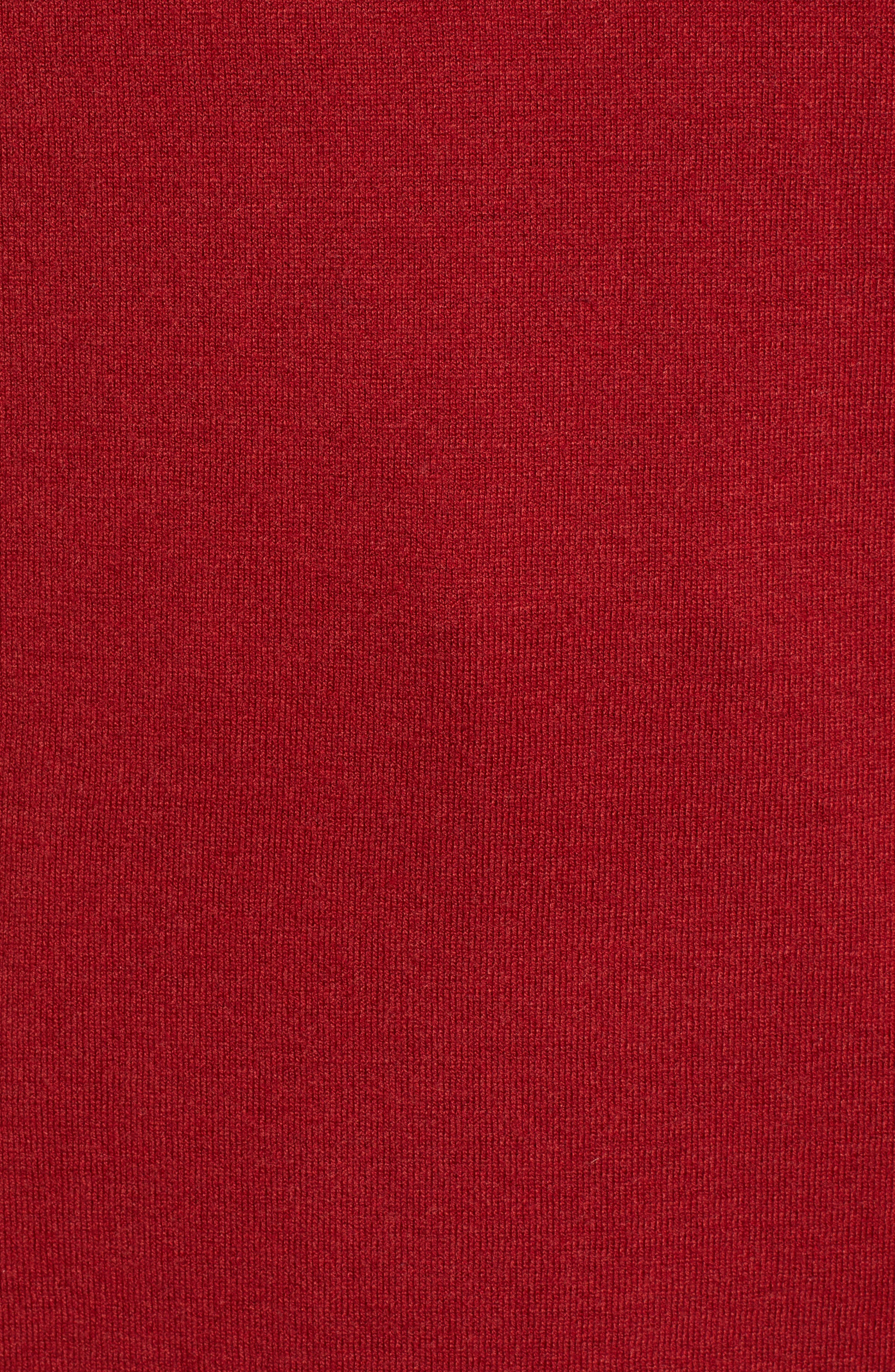 CASLON<SUP>®</SUP>, Side Slit Convertible Cowl Neck Tunic, Alternate thumbnail 5, color, RED SUN