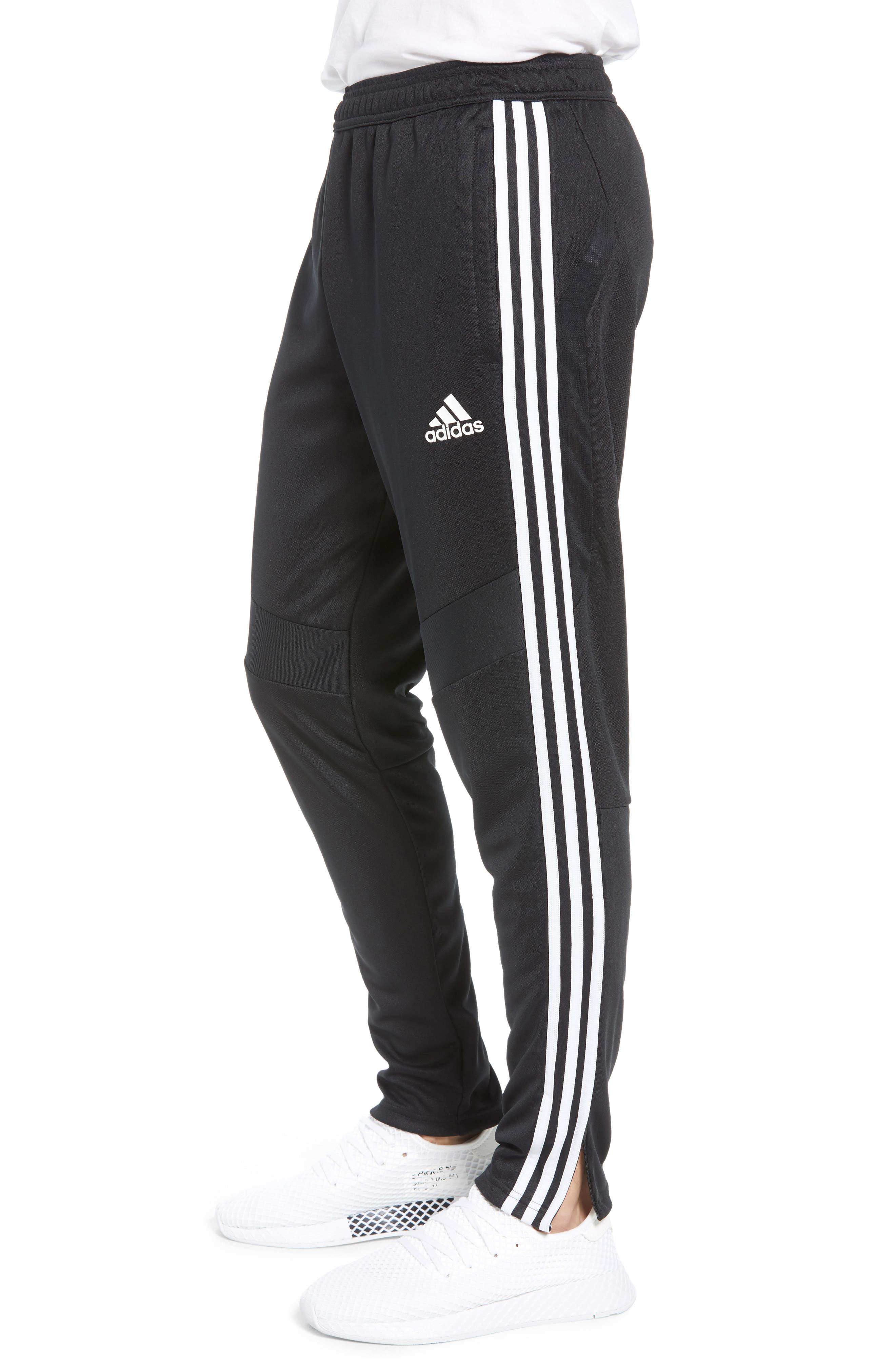 ADIDAS, Tiro Soccer Training Pants, Alternate thumbnail 3, color, BLACK/ WHITE