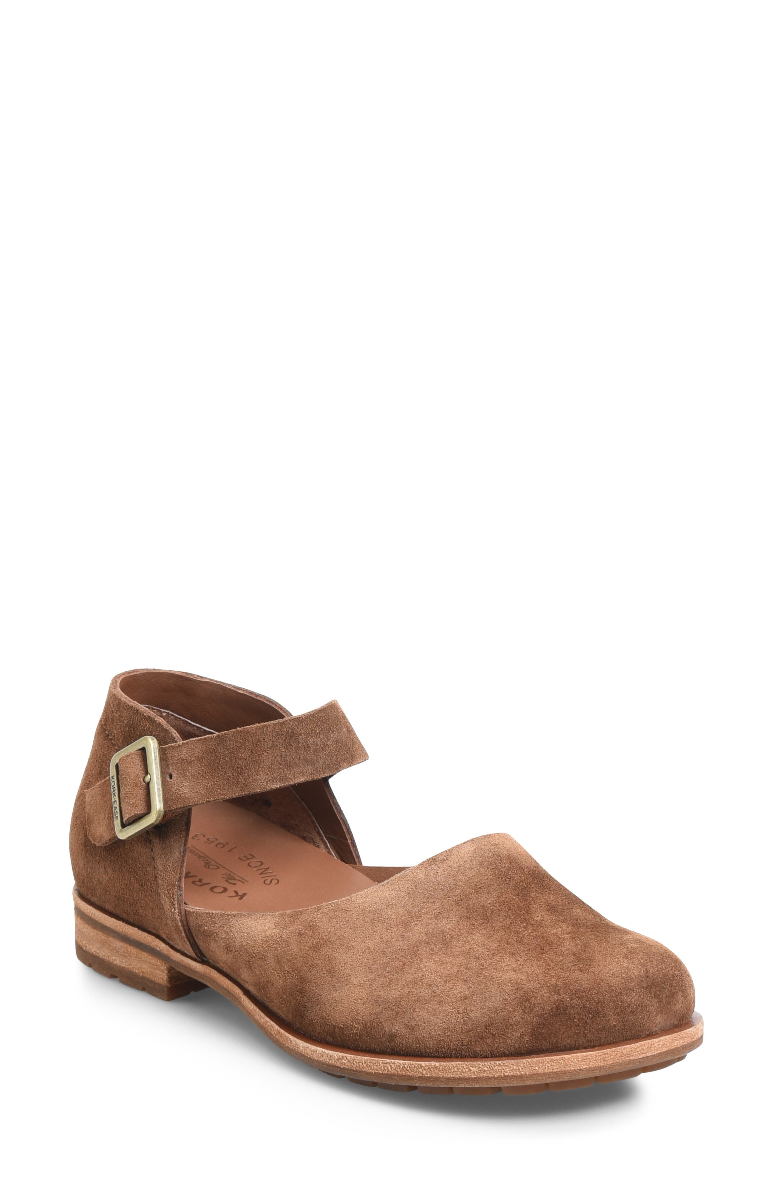 KORK-EASE<SUP>®</SUP> Bellota Mary Jane Flat, Main, color, BROWN SUEDE