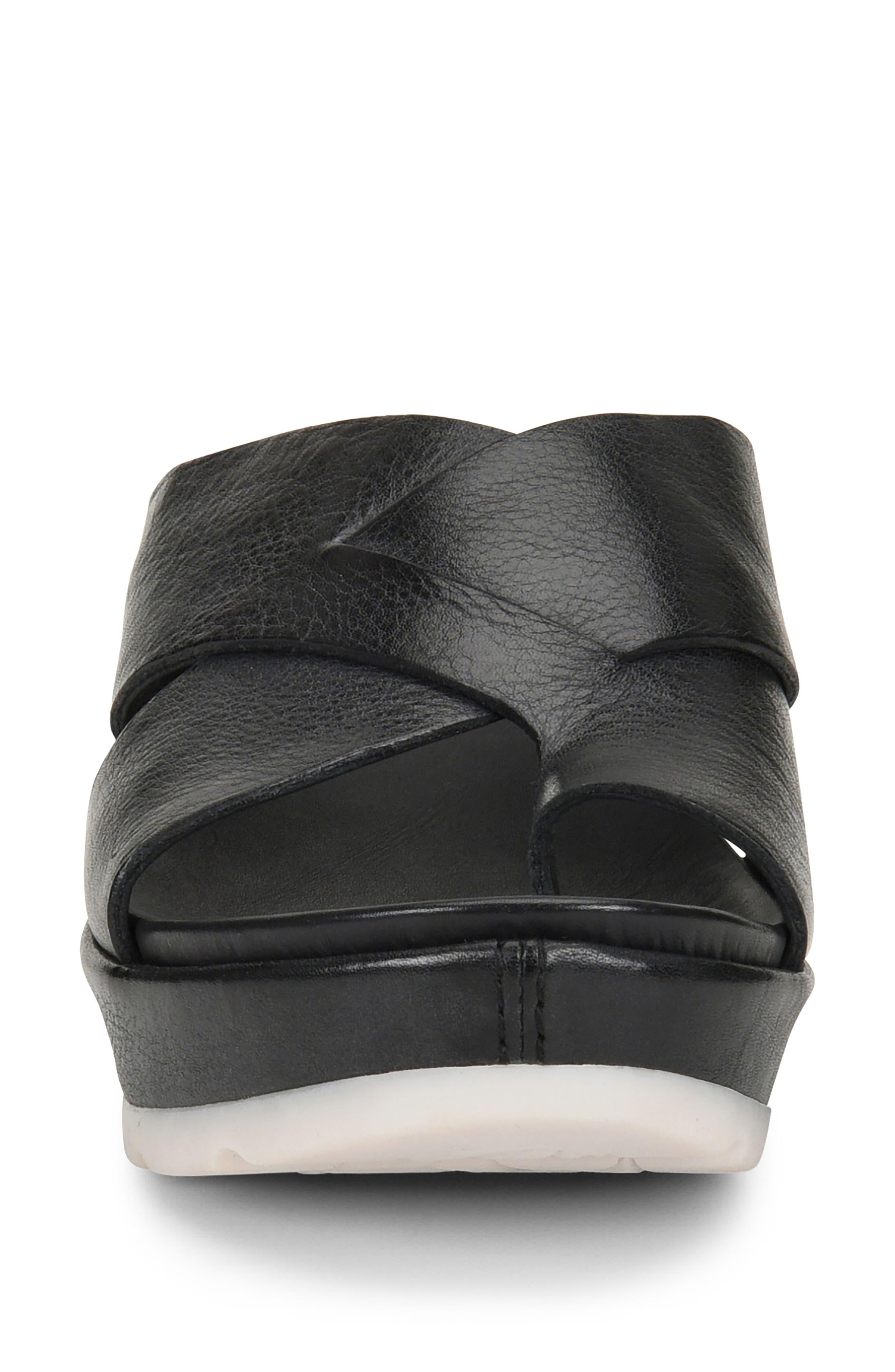 KORK-EASE<SUP>®</SUP>, Baja Sport Slide Sandal, Alternate thumbnail 4, color, BLACK LEATHER