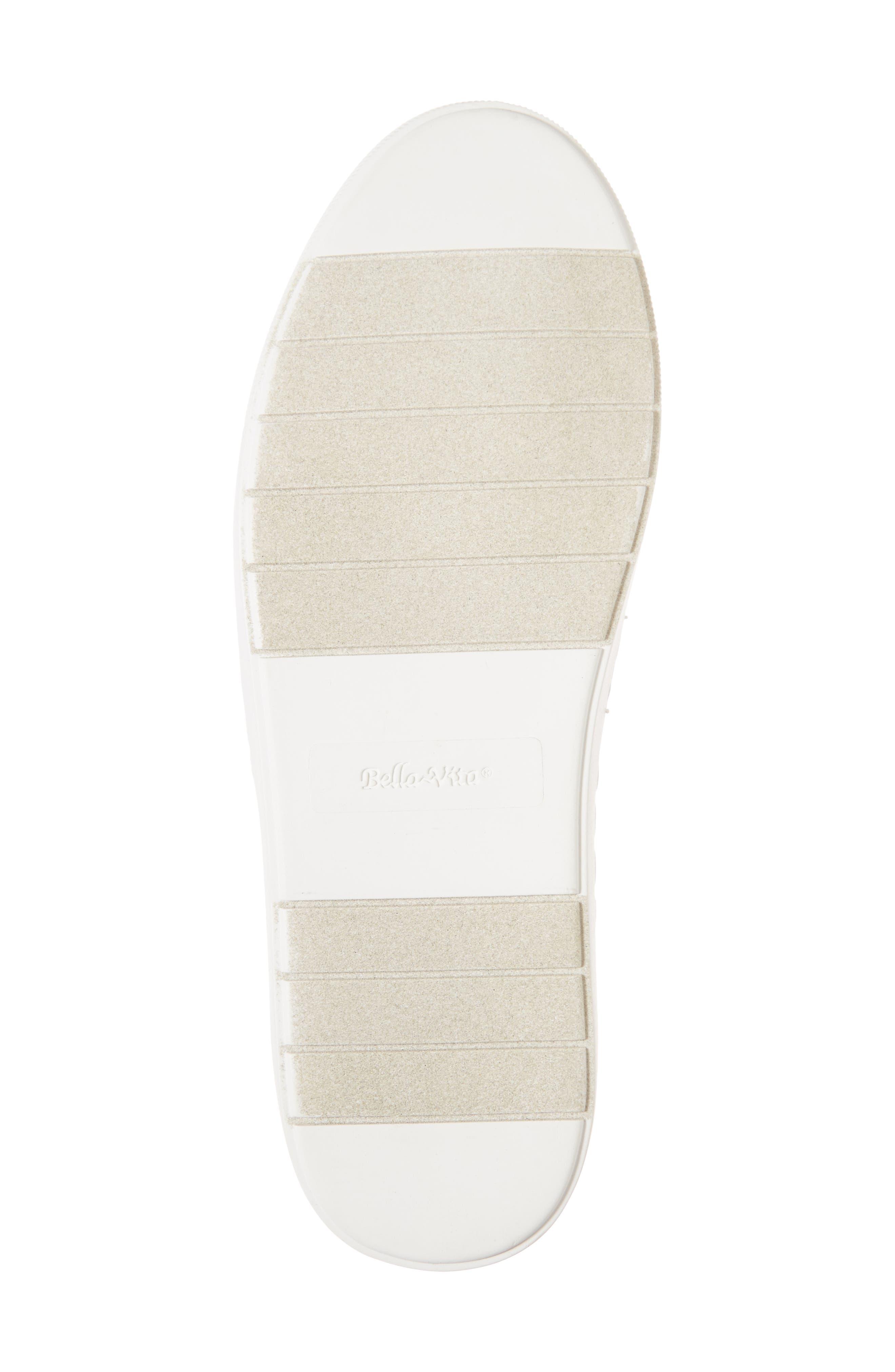 BELLA VITA, Ramp II Slip-On Sneaker, Alternate thumbnail 6, color, BLACK FABRIC