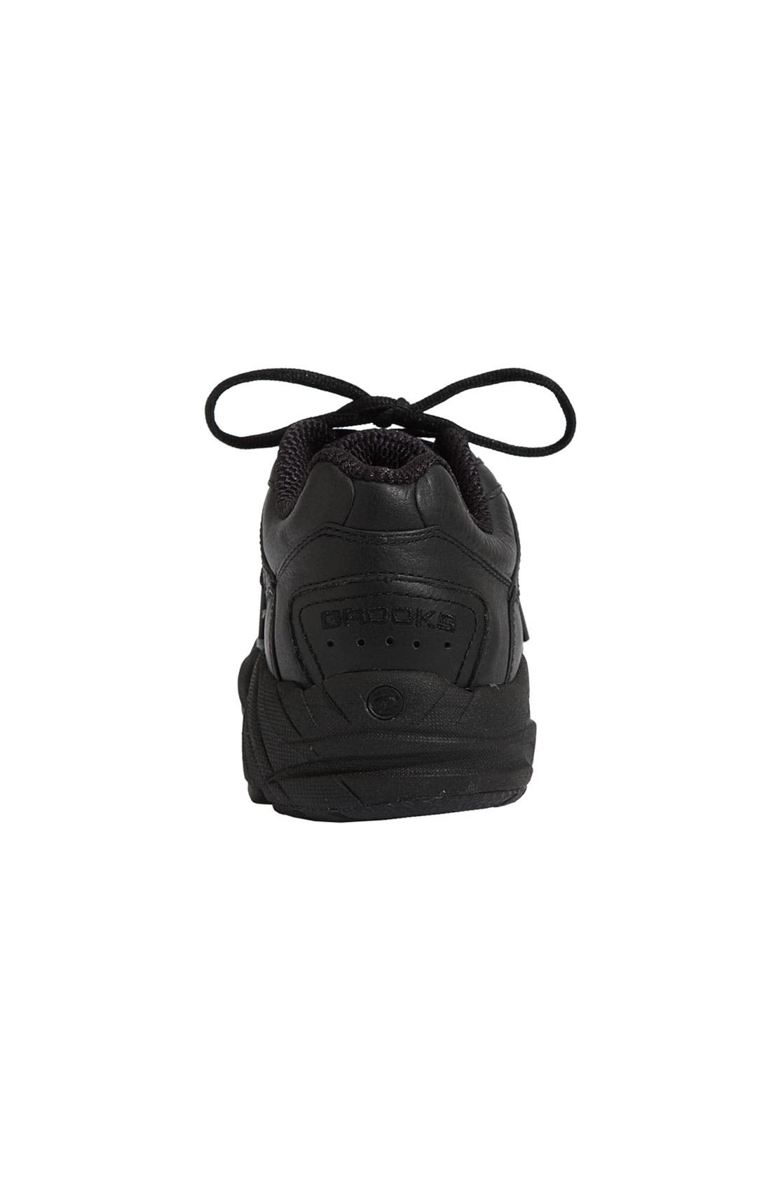 BROOKS, 'Addiction' Walking Shoe, Alternate thumbnail 3, color, BLACK