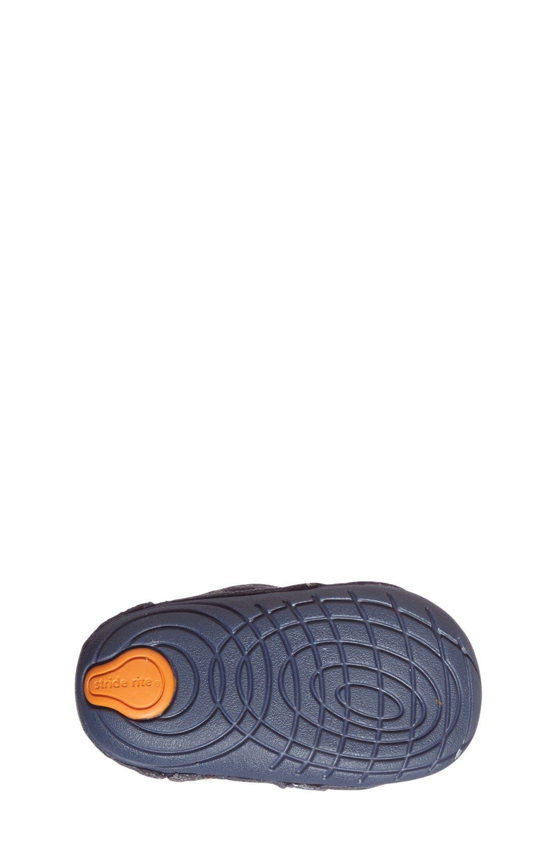 STRIDE RITE, Soft Motion Kellen Sneaker, Alternate thumbnail 4, color, GREY