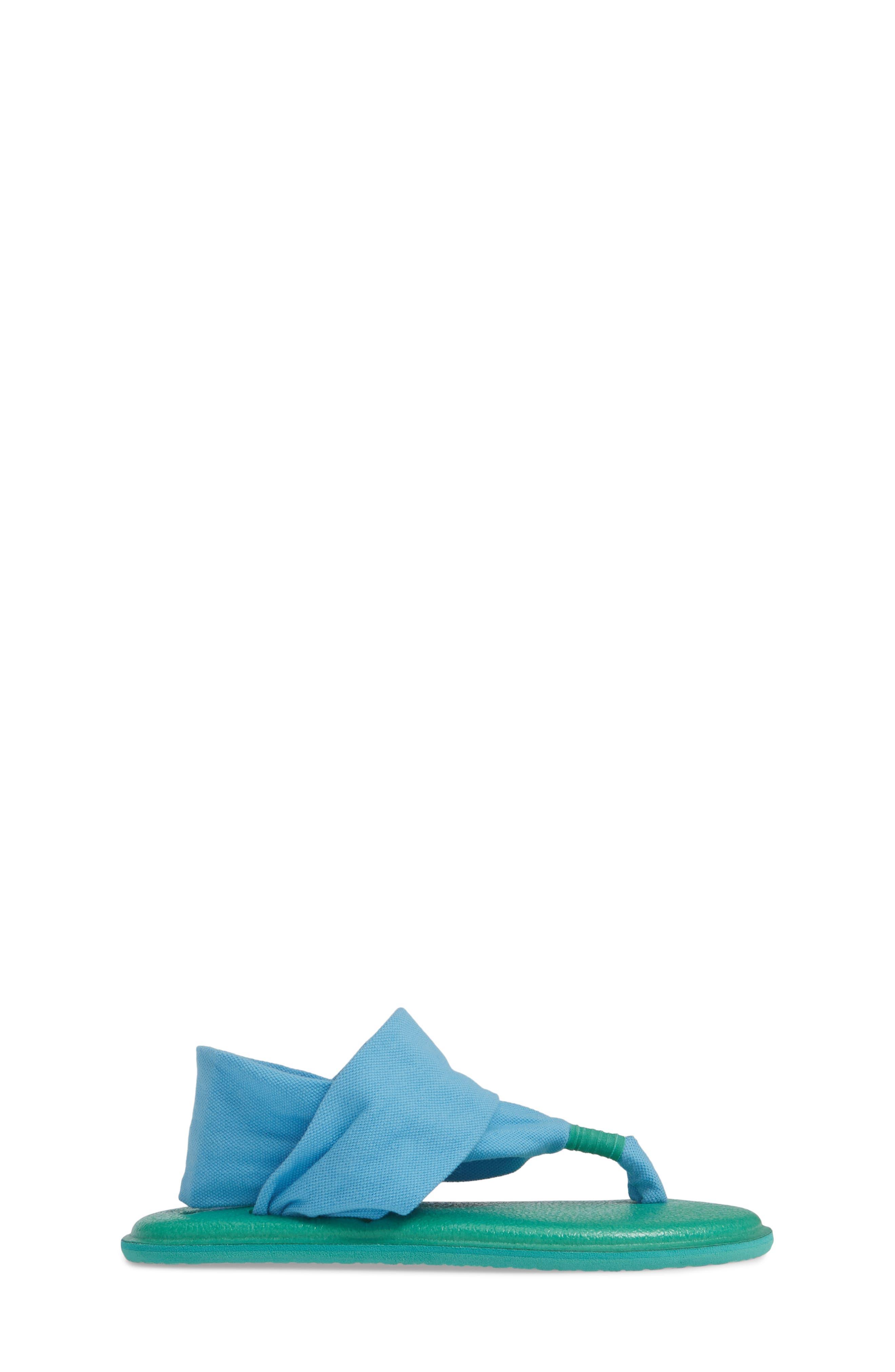 SANUK, Lil Yoga Sling 2 Sandal, Alternate thumbnail 3, color, ALASKA BLUE