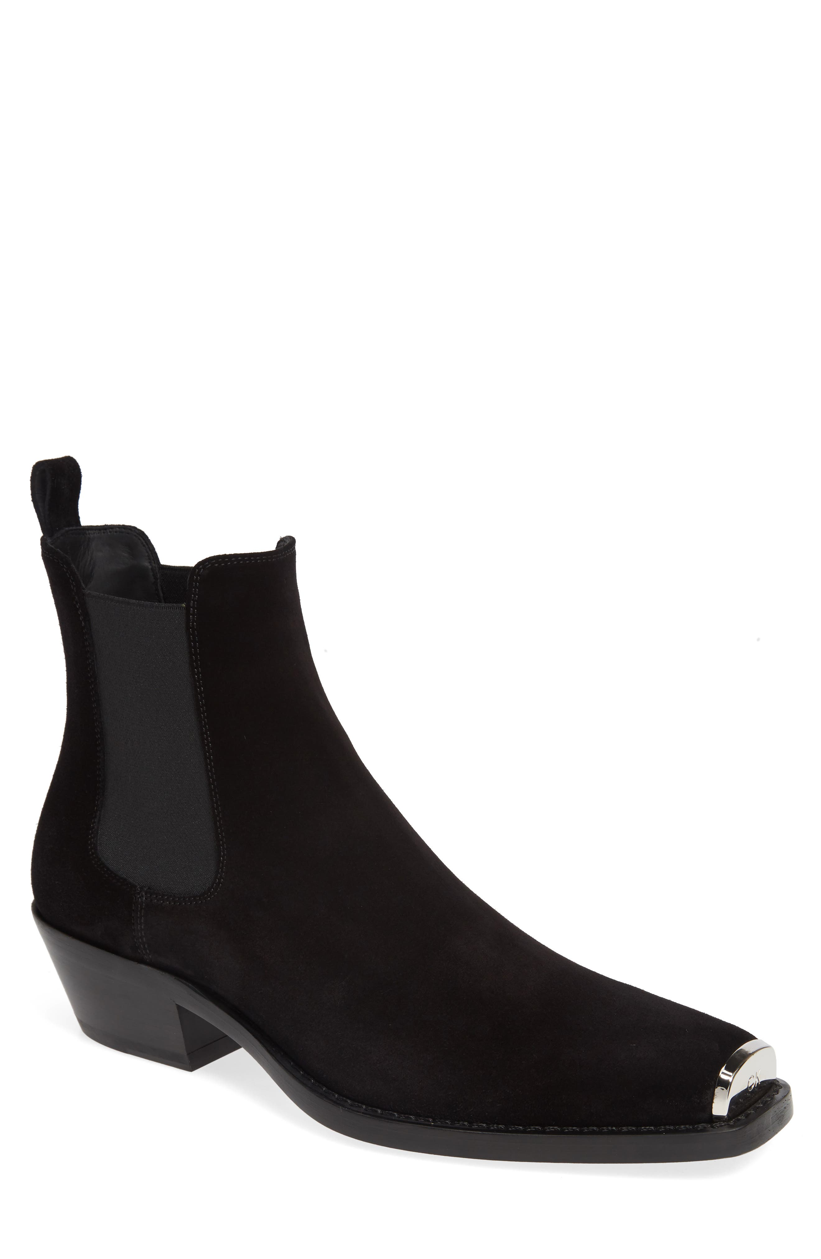 CALVIN KLEIN 205W39NYC, Chris Chelsea Boot, Main thumbnail 1, color, BLACK