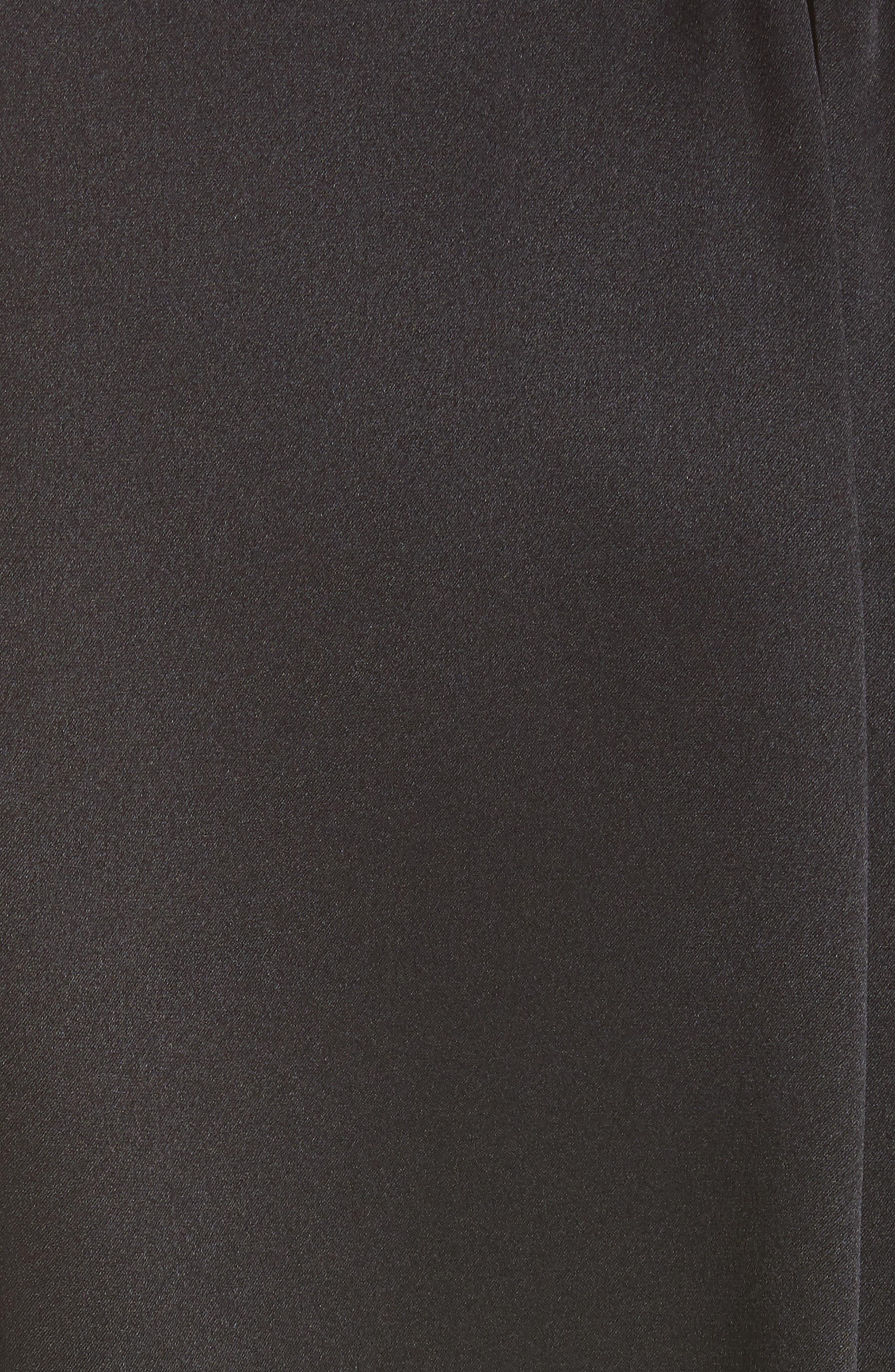 NILI LOTAN, Colette Silk Blouse, Alternate thumbnail 5, color, BLACK