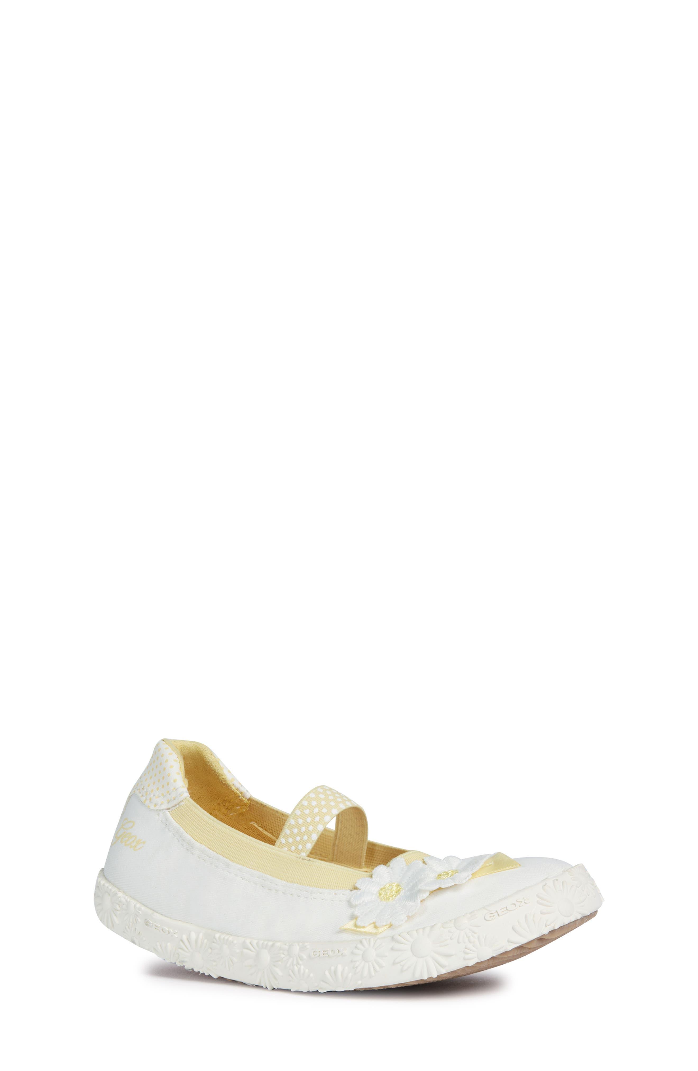 GEOX, Kilwi Daisy Mary Jane Sneaker, Main thumbnail 1, color, WHITE