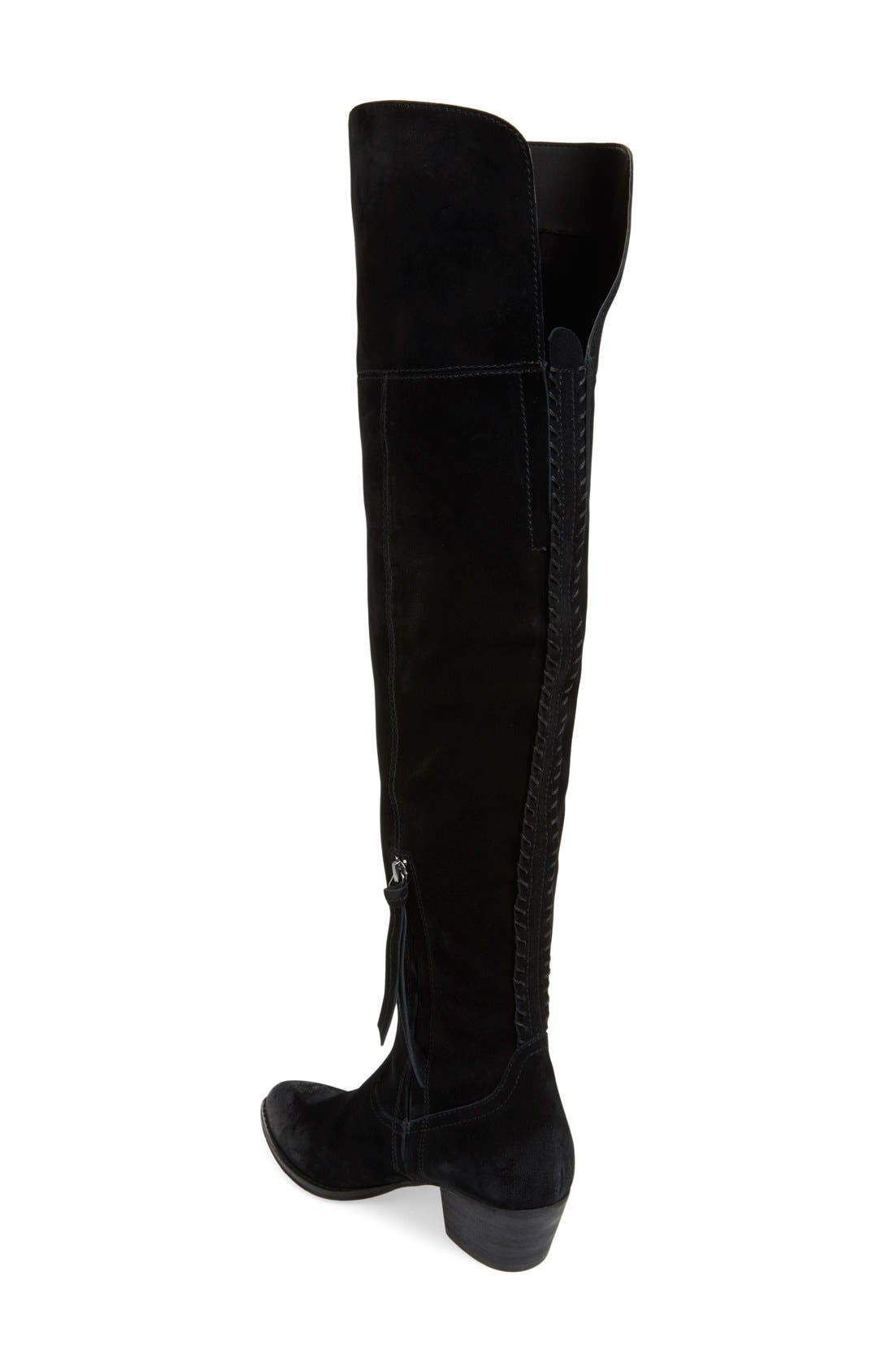 DOLCE VITA, 'Silas' Over the Knee Boot, Alternate thumbnail 4, color, 001