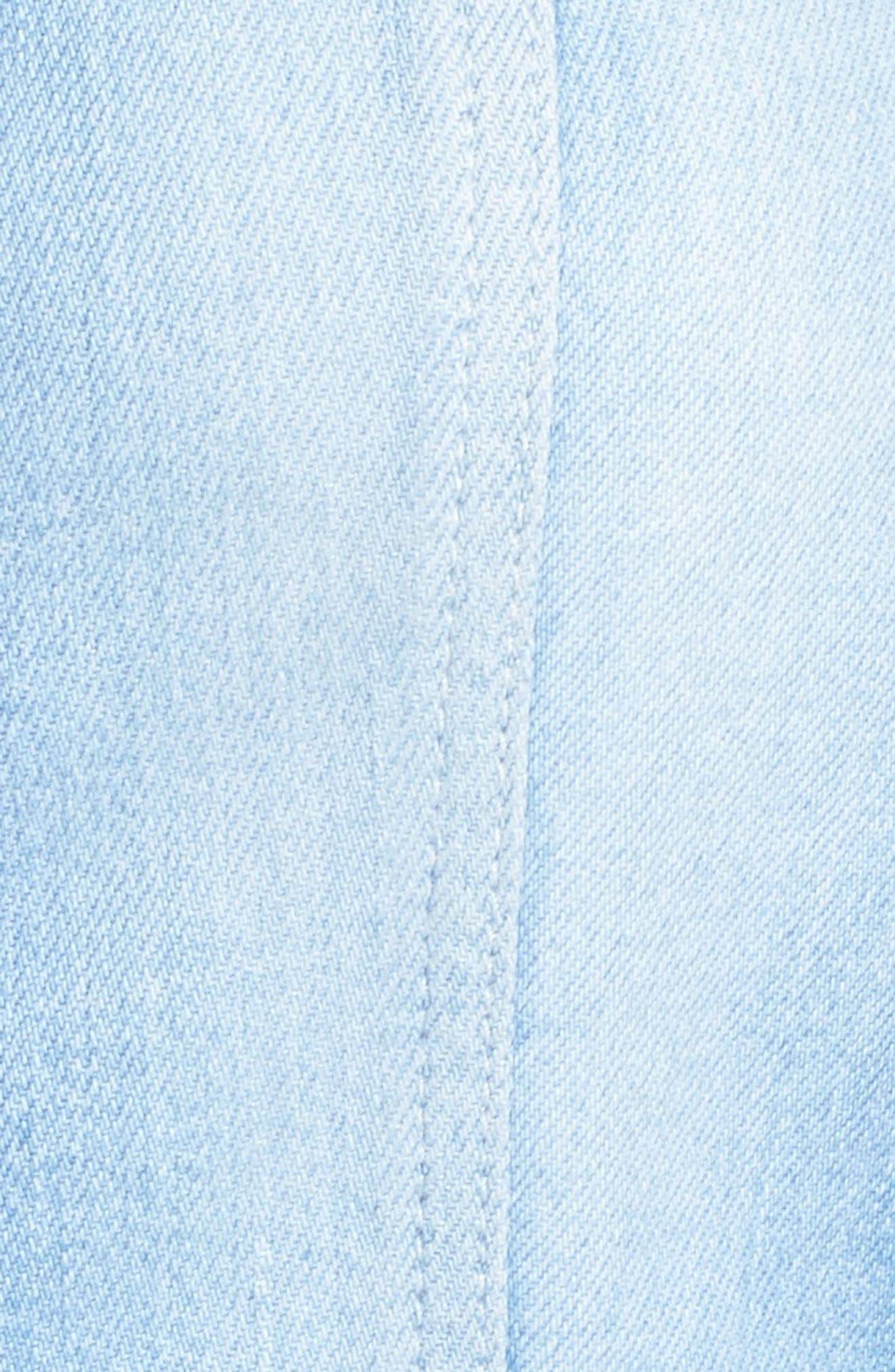 7 FOR ALL MANKIND<SUP>®</SUP>, Denim Culotte Jumpsuit, Alternate thumbnail 5, color, 400