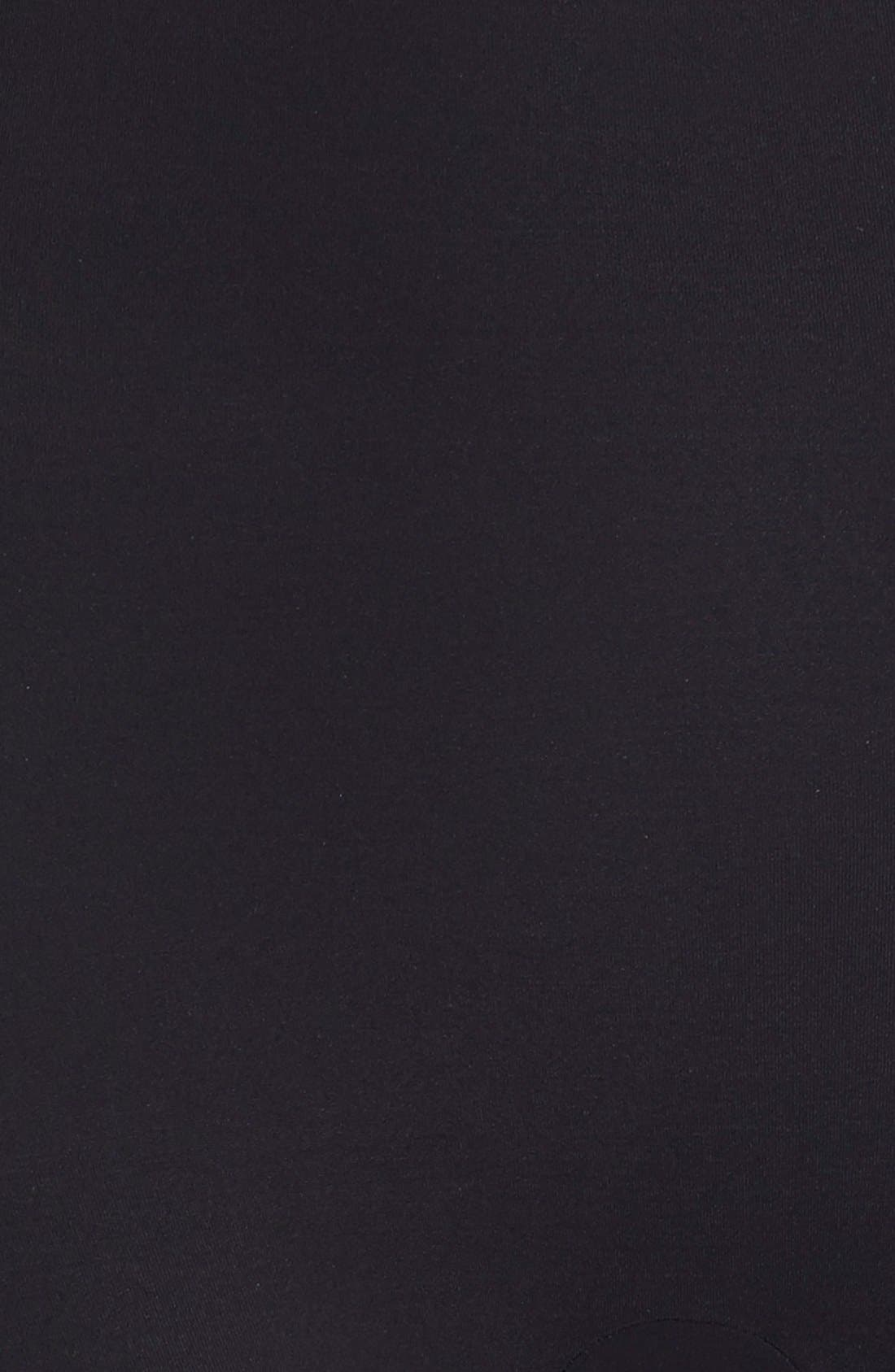 COMMANDO, 'Control' High Waist Shaping Shorts, Alternate thumbnail 4, color, BLACK