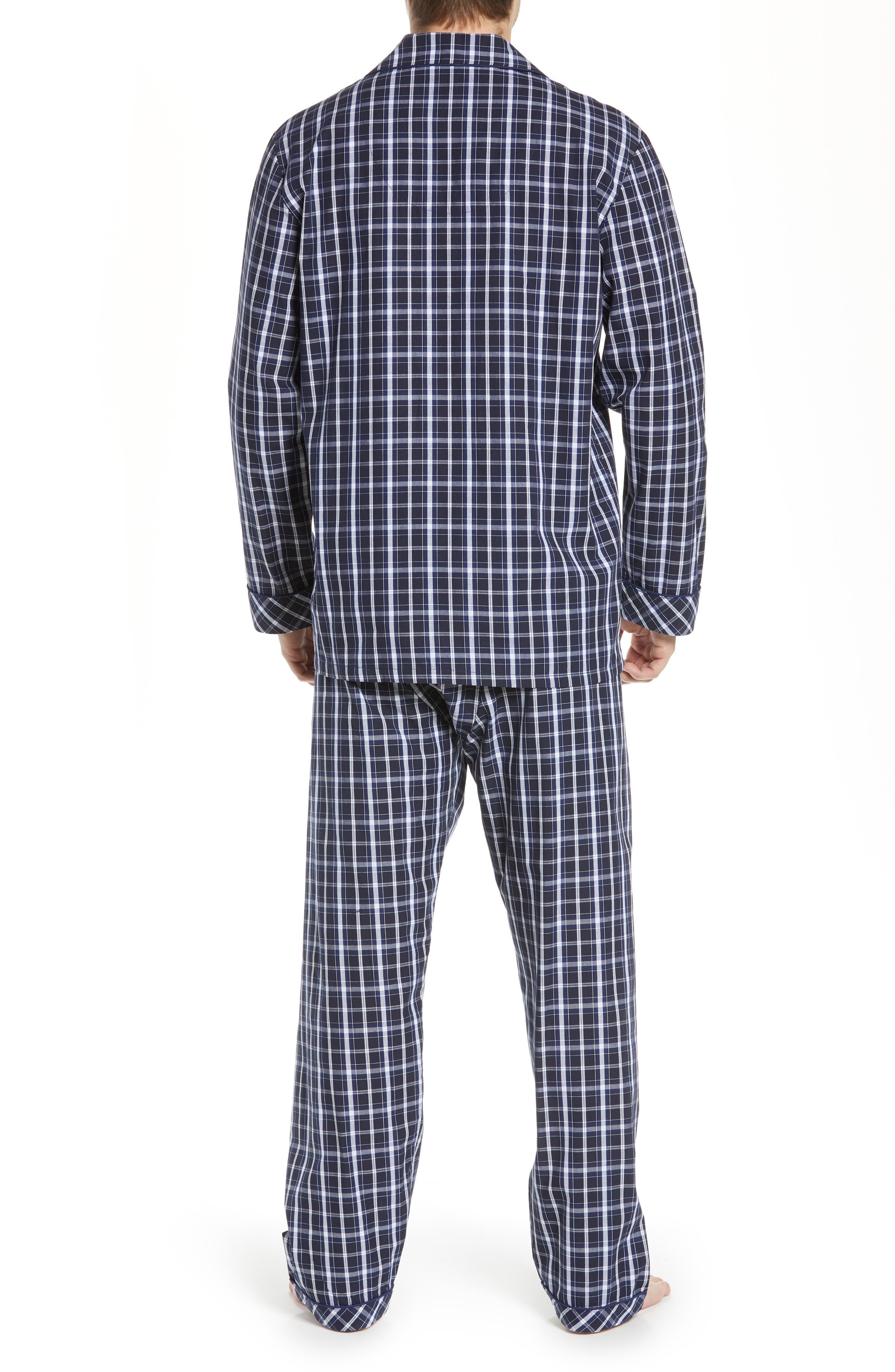 MAJESTIC INTERNATIONAL, Marcus Cotton Pajamas, Alternate thumbnail 2, color, 402