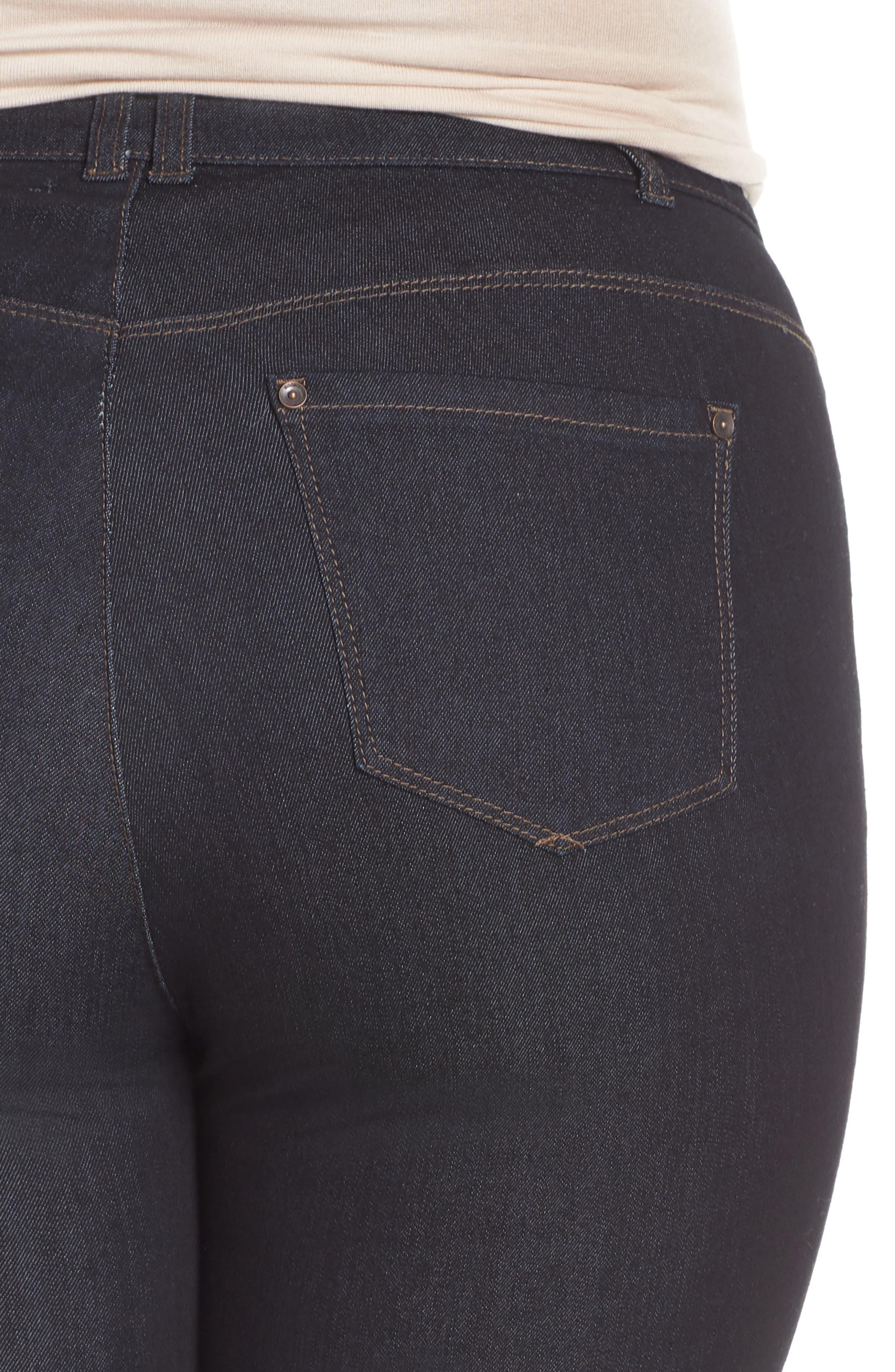 WIT & WISDOM, 30/11 Ab-solution High Waist Skinny Jeans, Alternate thumbnail 4, color, INDIGO