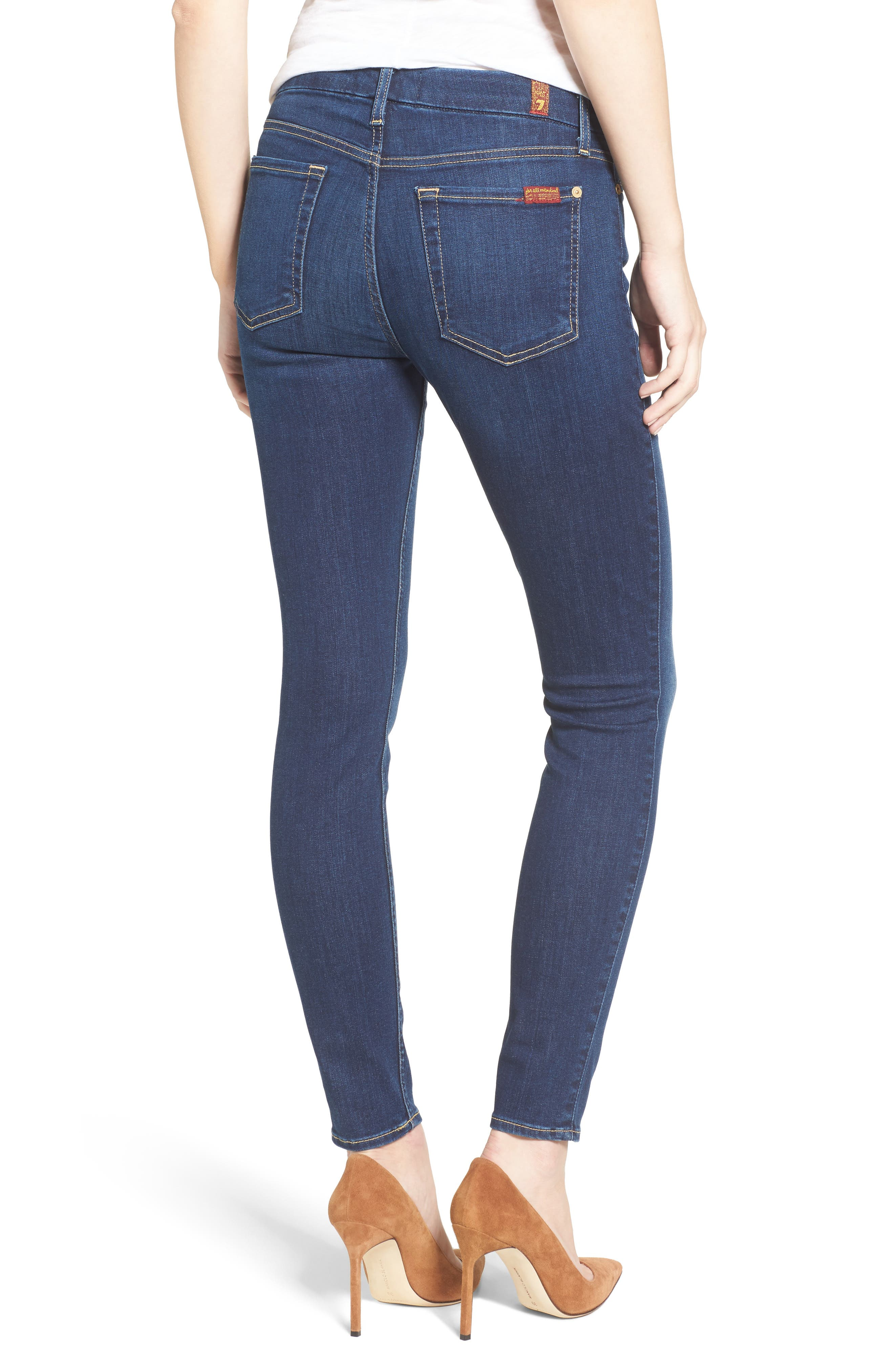 7 FOR ALL MANKIND<SUP>®</SUP>, b(air) Ankle Skinny Jeans, Alternate thumbnail 2, color, 400