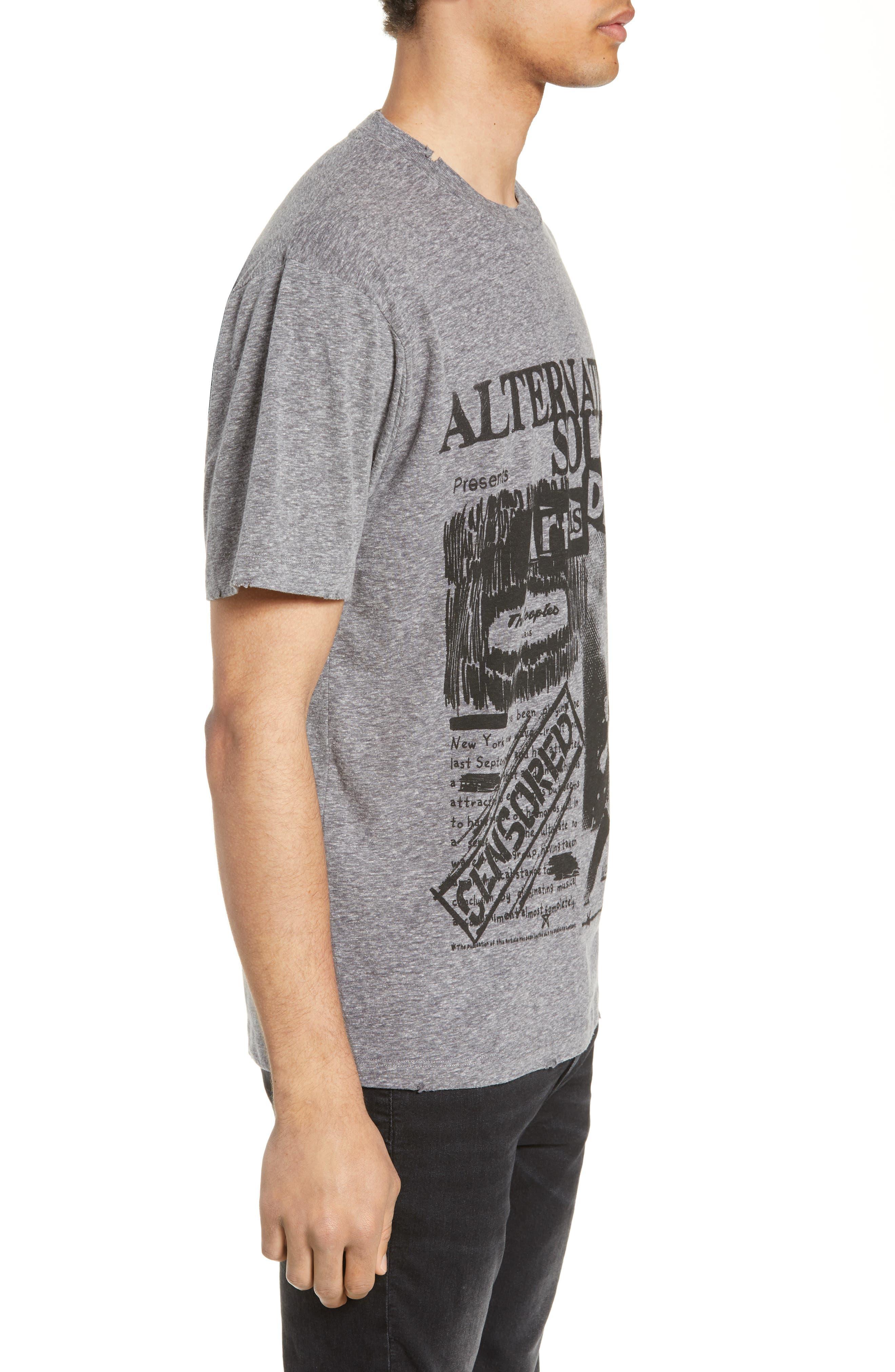 THE KOOPLES, Alternative Sounds Graphic T-Shirt, Alternate thumbnail 3, color, GREY