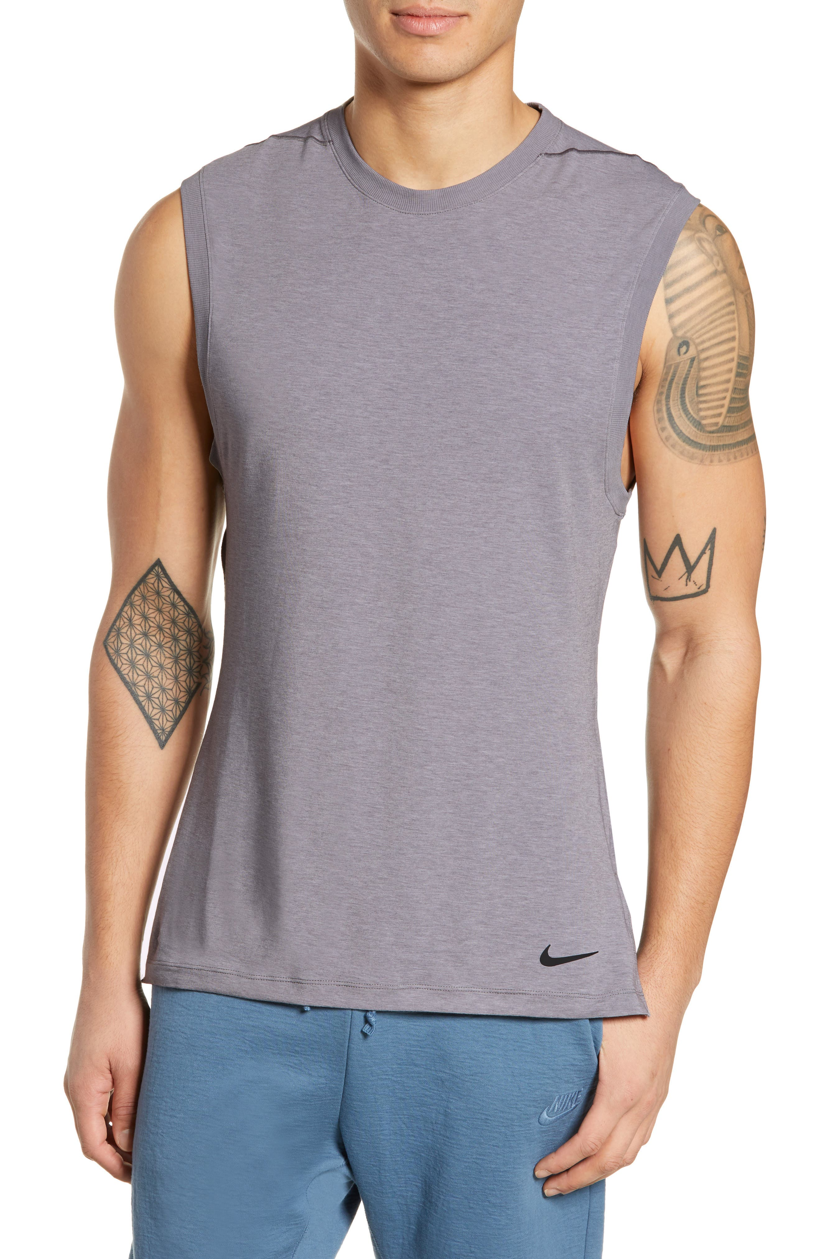 Nike Dry Transcent Sleeveless T-Shirt Grey