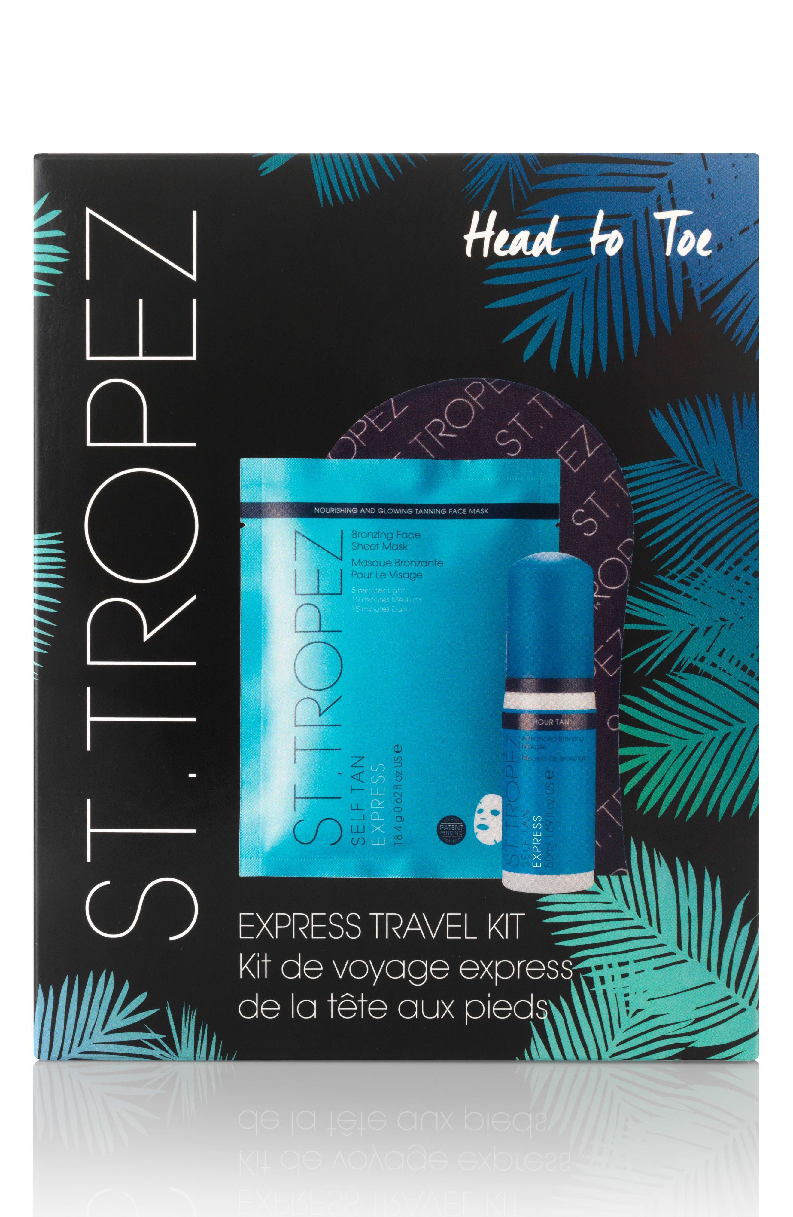 ST. TROPEZ, Express Travel Kit, Main thumbnail 1, color, NO COLOR