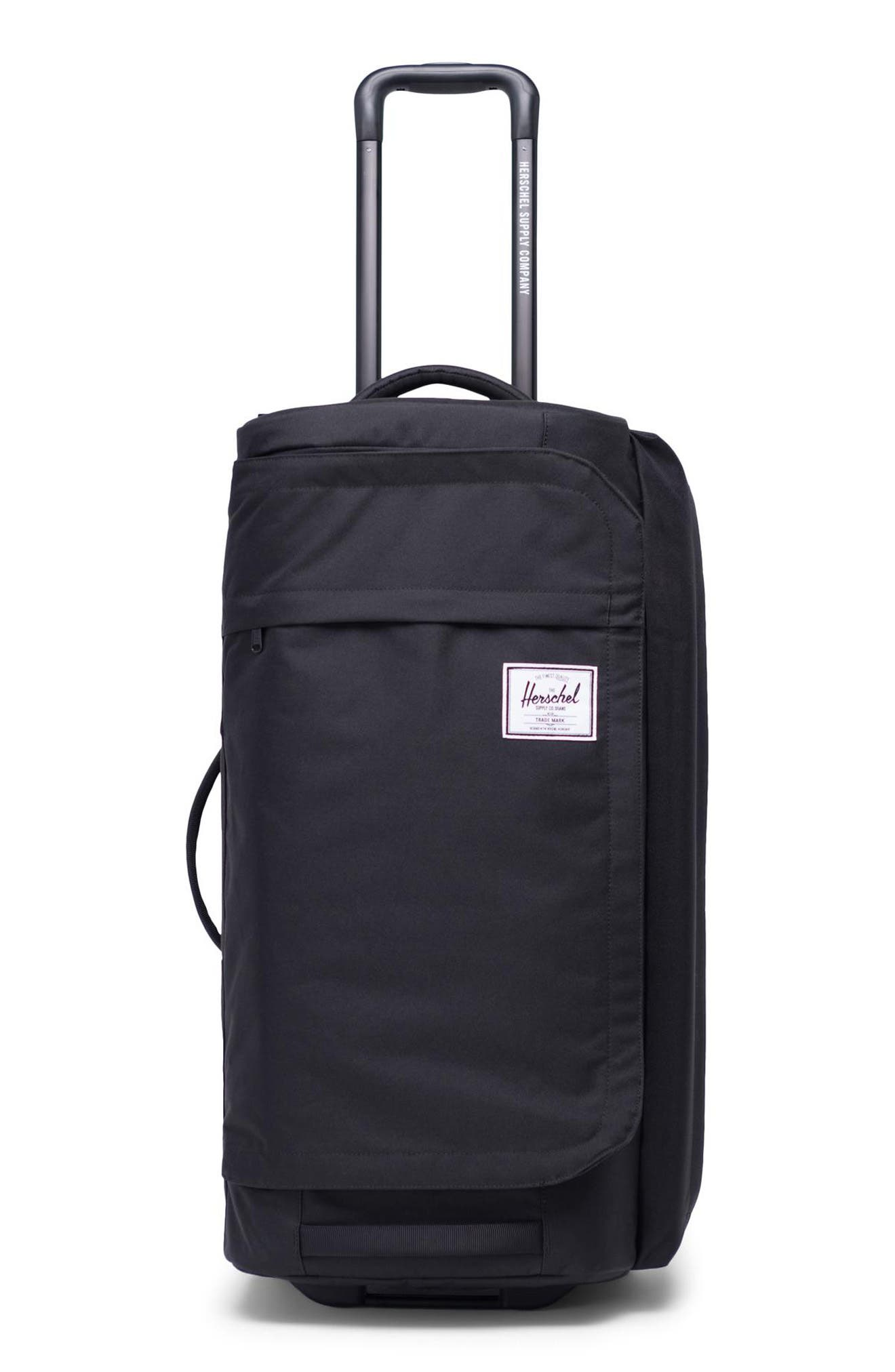 HERSCHEL SUPPLY CO., Wheelie Outfitter 24-Inch Duffle Bag, Main thumbnail 1, color, BLACK