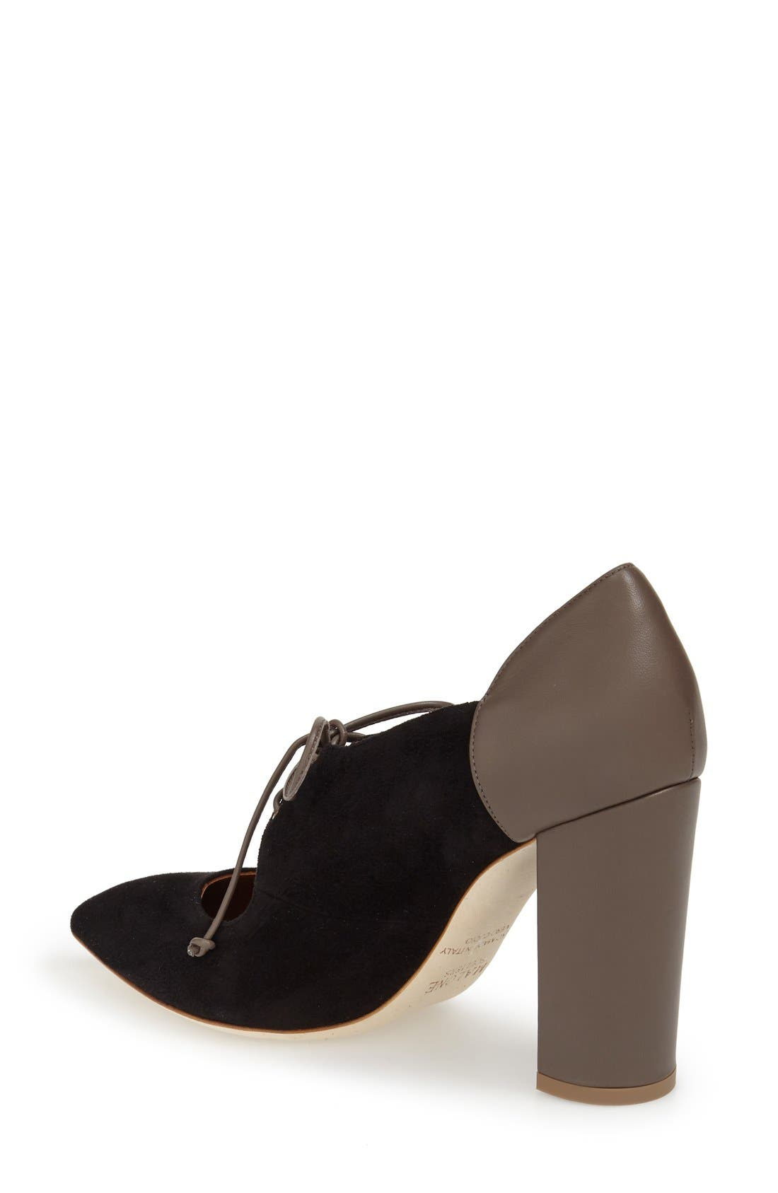 MALONE SOULIERS, 'Marjorie' Pointy Toe Pump, Alternate thumbnail 4, color, 001