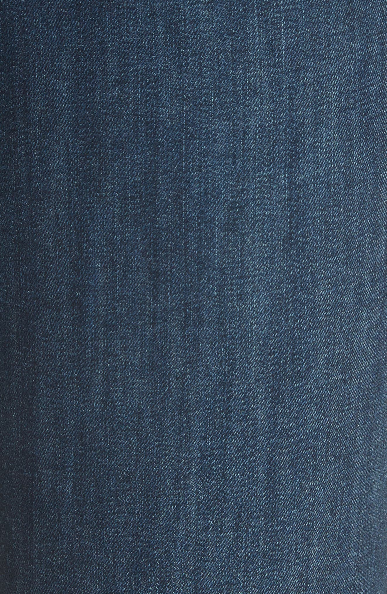 FREE PEOPLE, We the Free by Free People High Waist Ankle Skinny Jeans, Alternate thumbnail 6, color, DARK BLUE