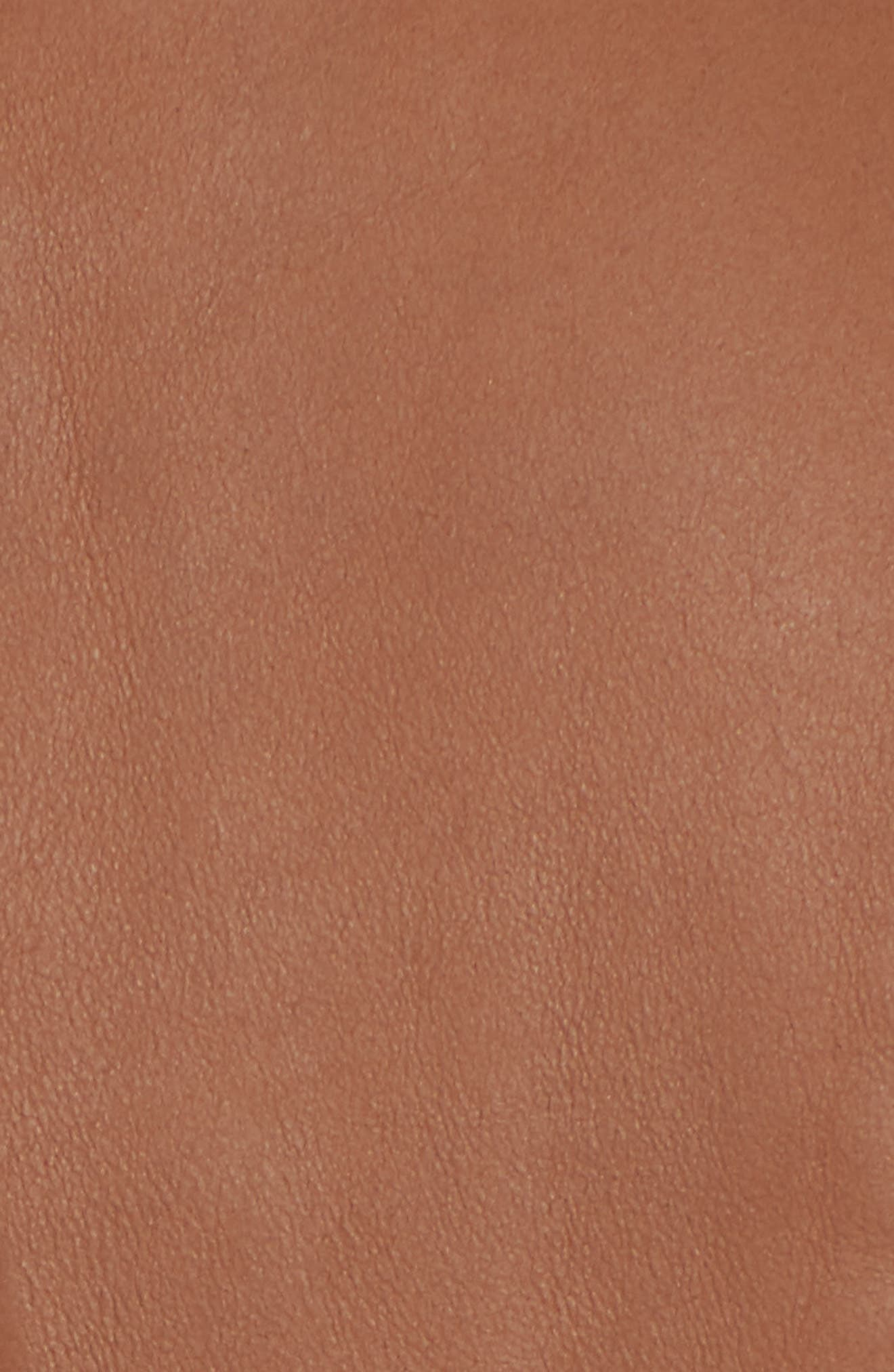 ANDREW MARC, Marc New York by Andrew Marc Felix Stand Collar Leather Jacket, Alternate thumbnail 7, color, WHISKEY