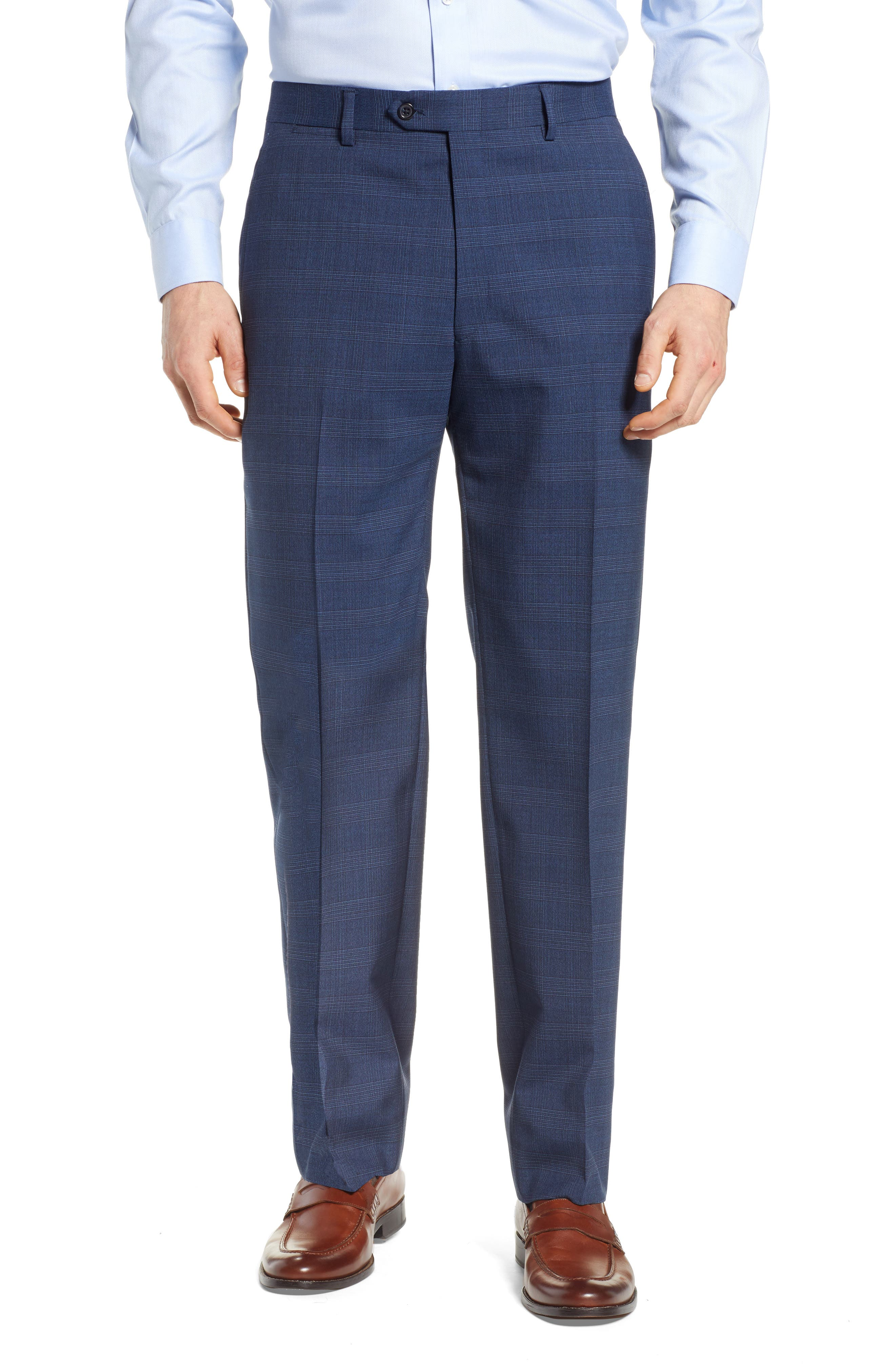 HART SCHAFFNER MARX, New York Classic Fit Plaid Wool Blend Suit, Alternate thumbnail 6, color, 401