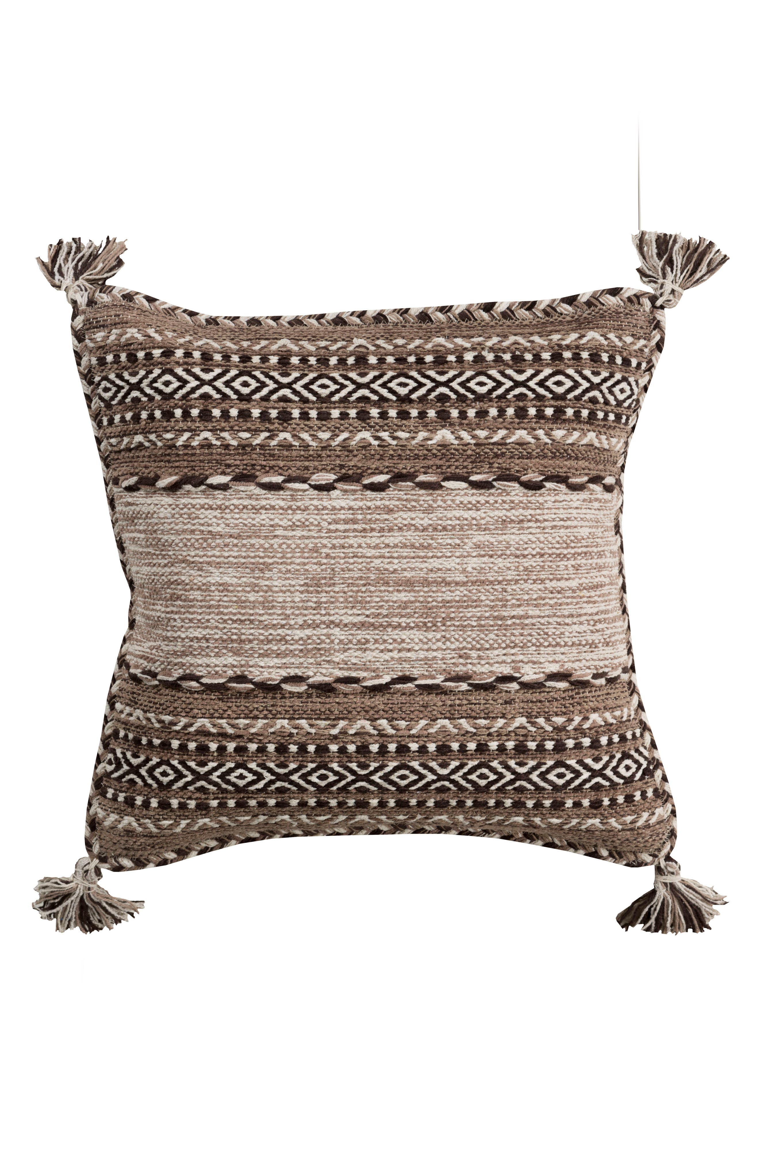 SURYA HOME Trenza Pillow, Main, color, CAMEL/ BROWN/ IVORY