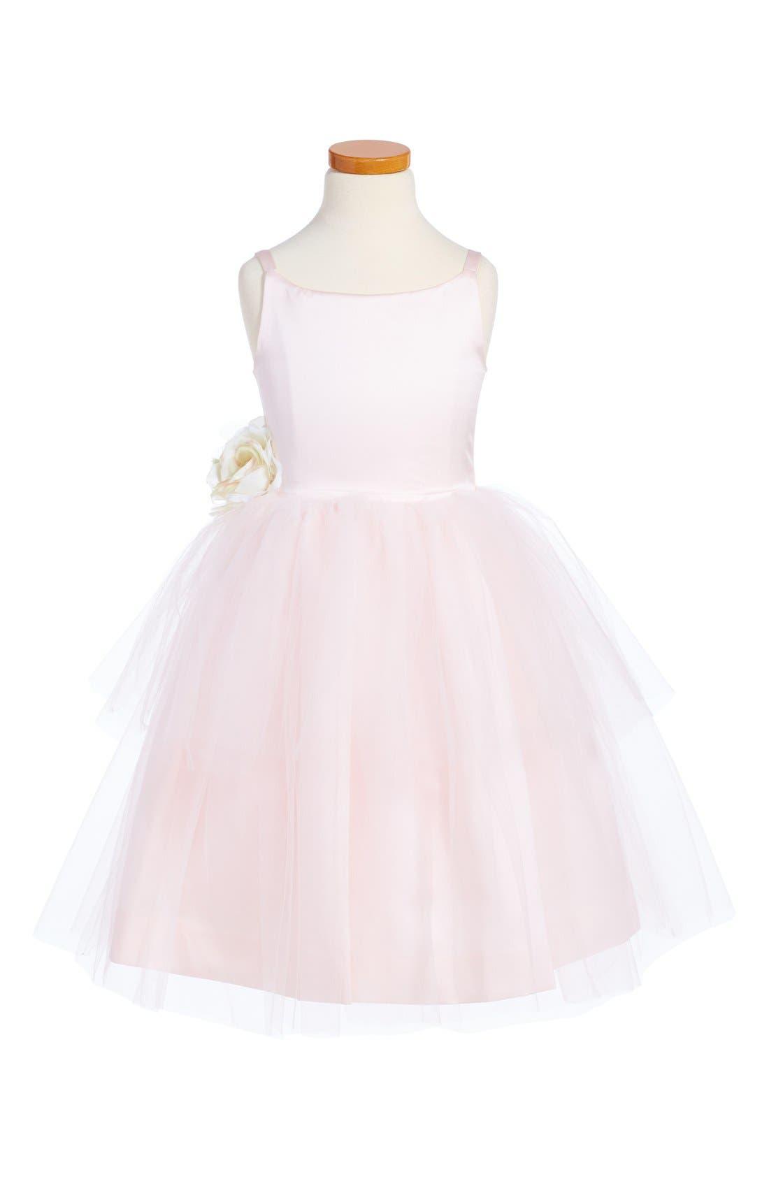 US ANGELS, Tulle Ballerina Dress, Main thumbnail 1, color, BLUSH PINK