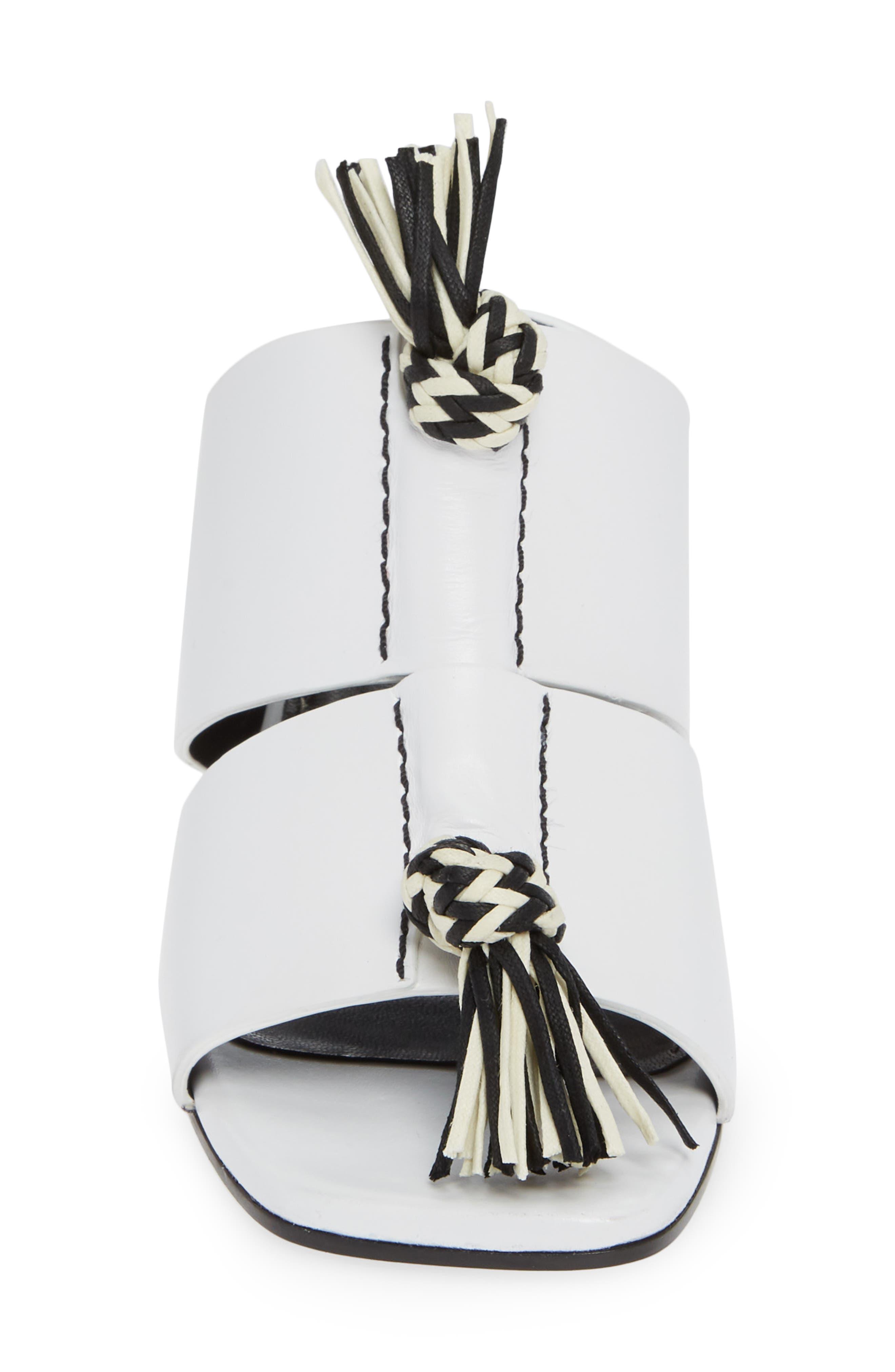 PROENZA SCHOULER, Cylinder Heel Slide Sandal, Alternate thumbnail 4, color, WHITE