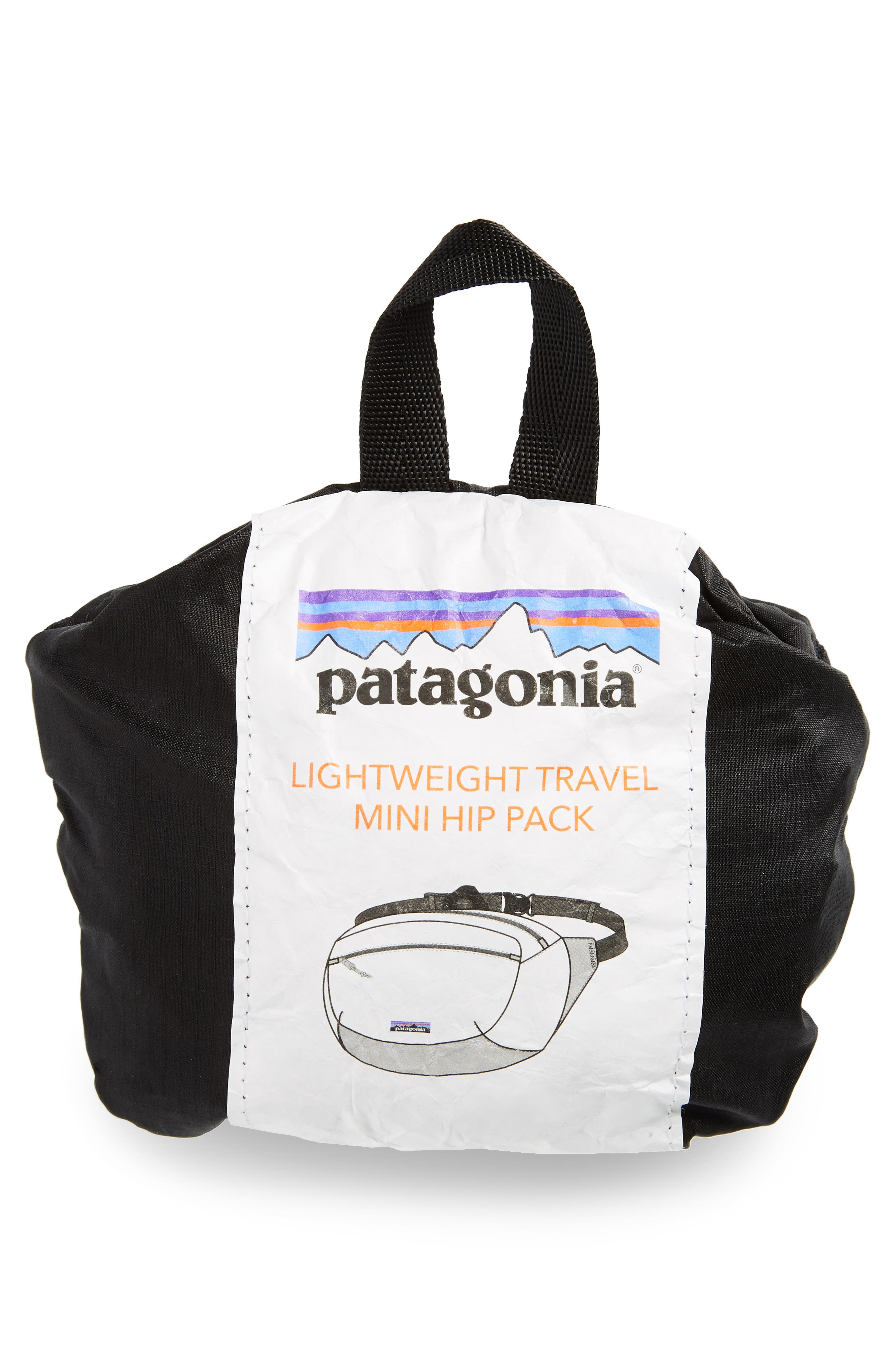 PATAGONIA, Lightweight Mini Hip Pack, Alternate thumbnail 9, color, BLACK