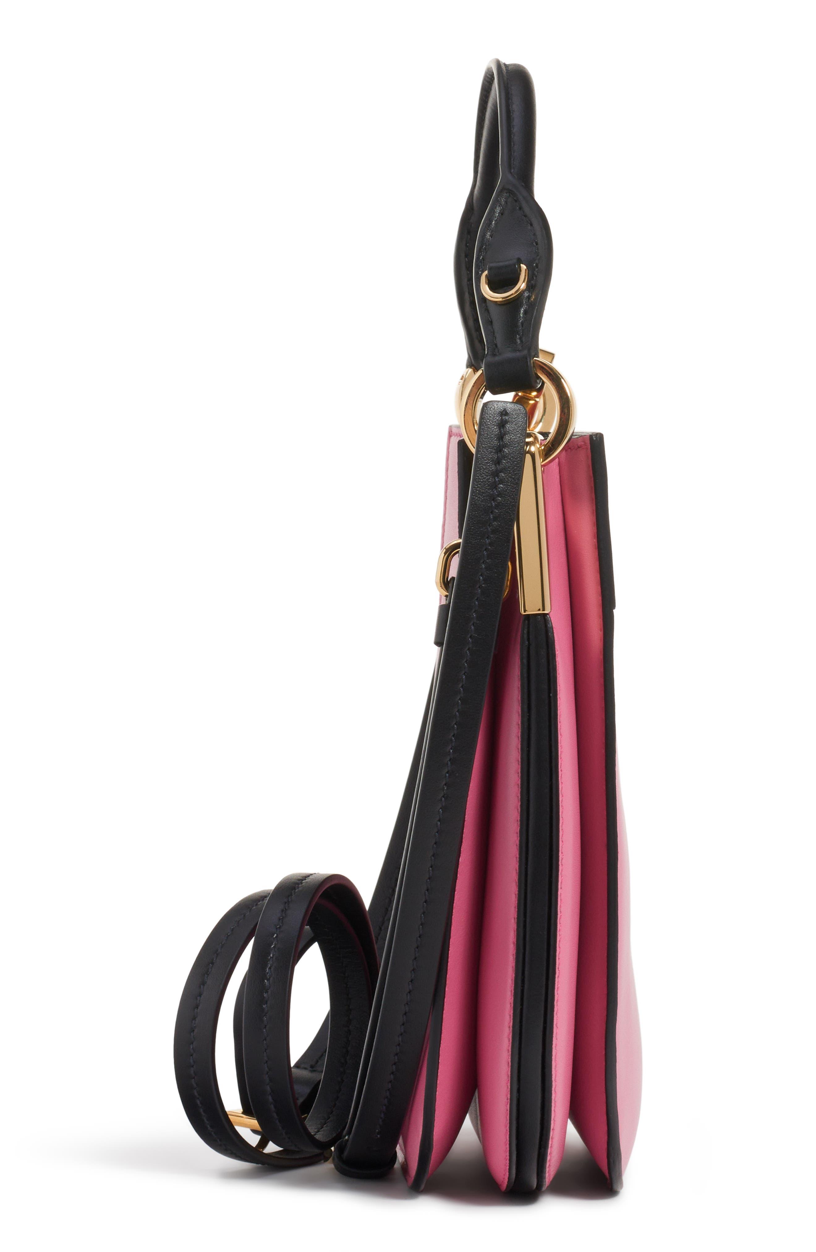 PRADA, Large Margit Shoulder Bag, Alternate thumbnail 4, color, BEGONIA/ NERO