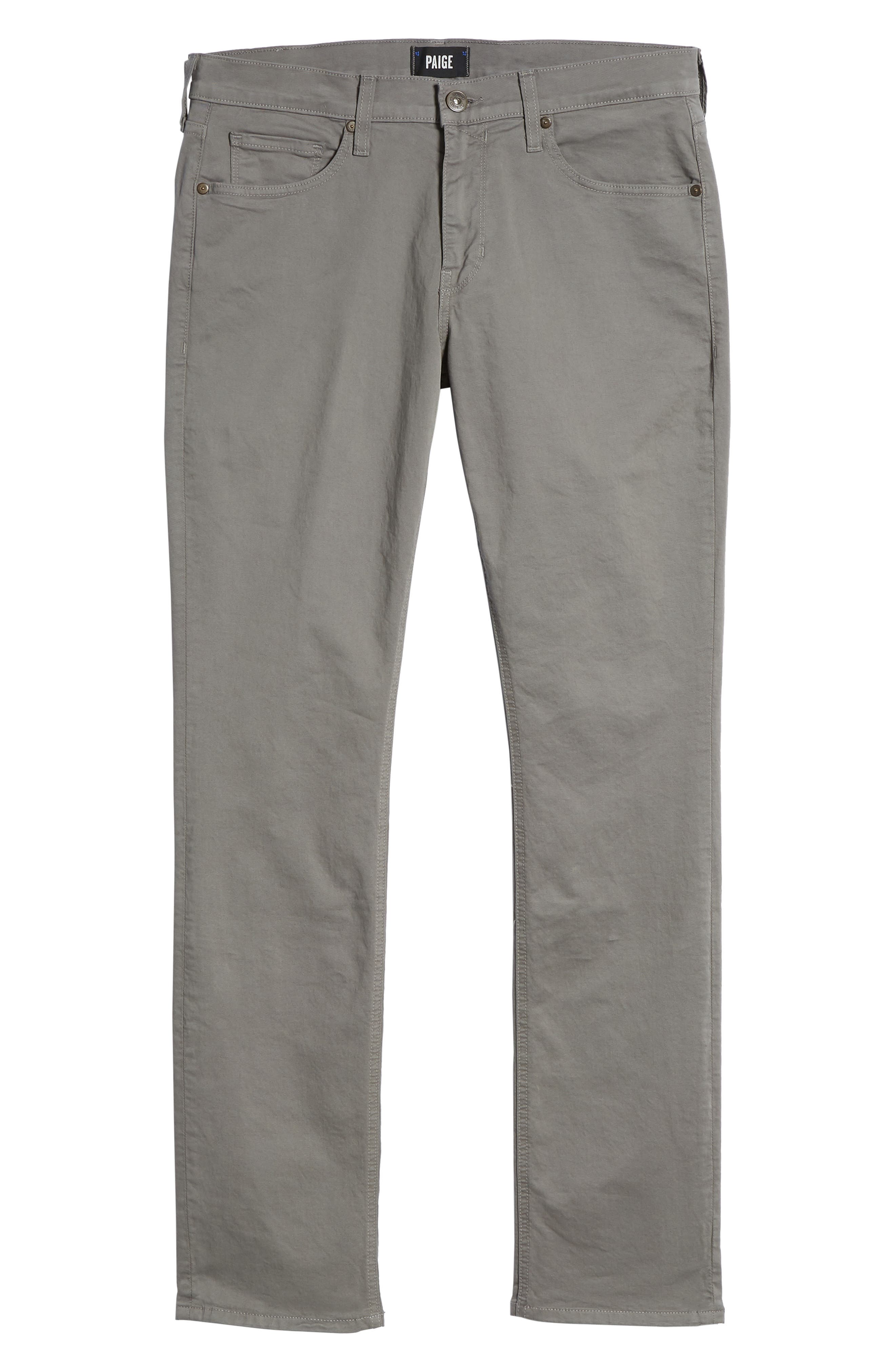 PAIGE, 'Federal' Slim Straight Leg Twill Pants, Alternate thumbnail 7, color, 022